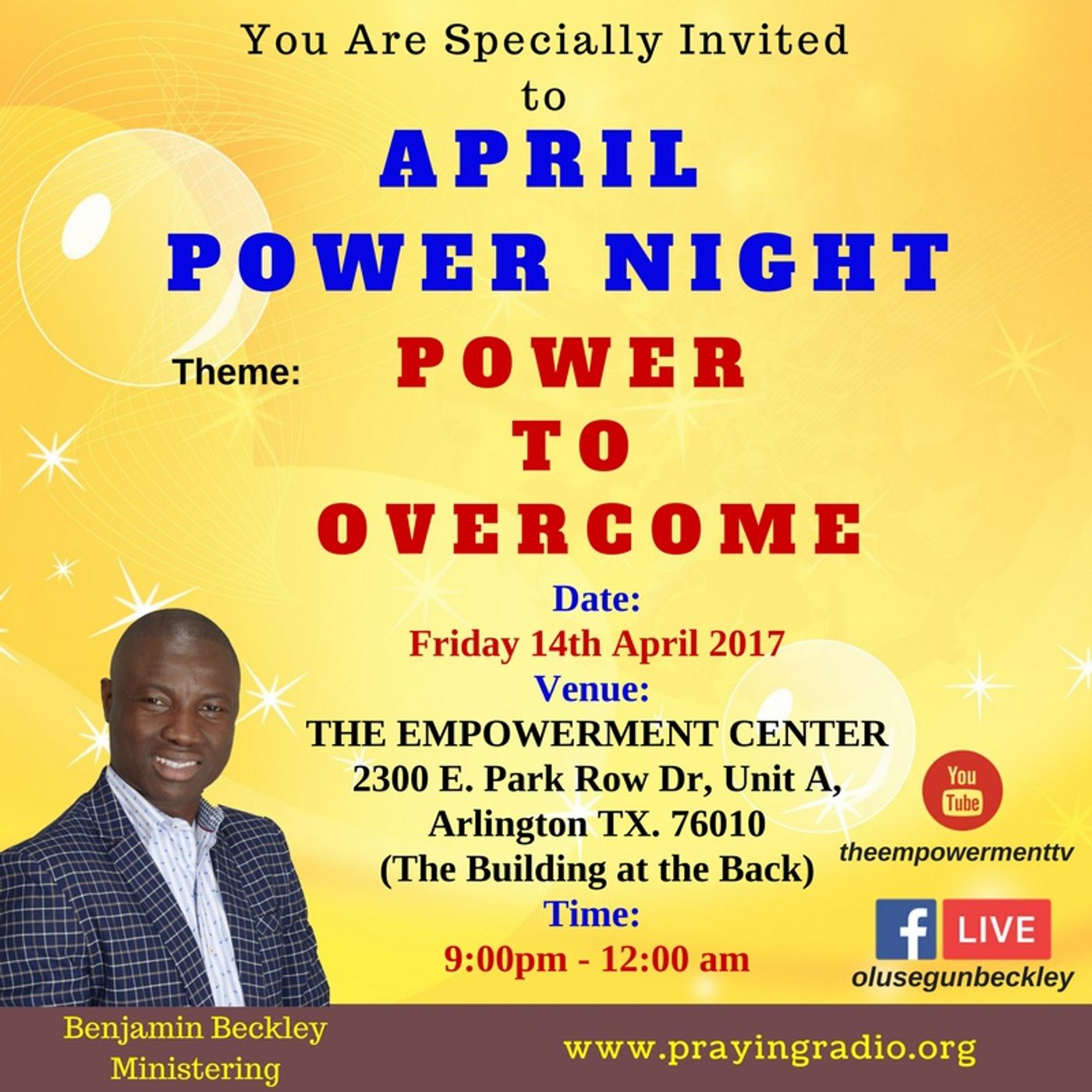 April Power Night - Power to Overcome