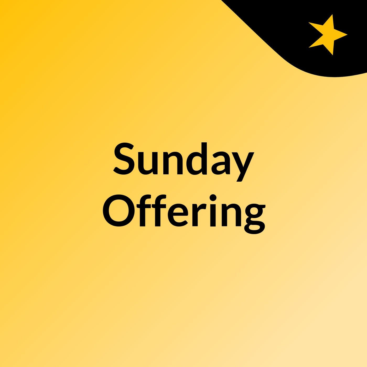 Sunday Offering May 9 2021