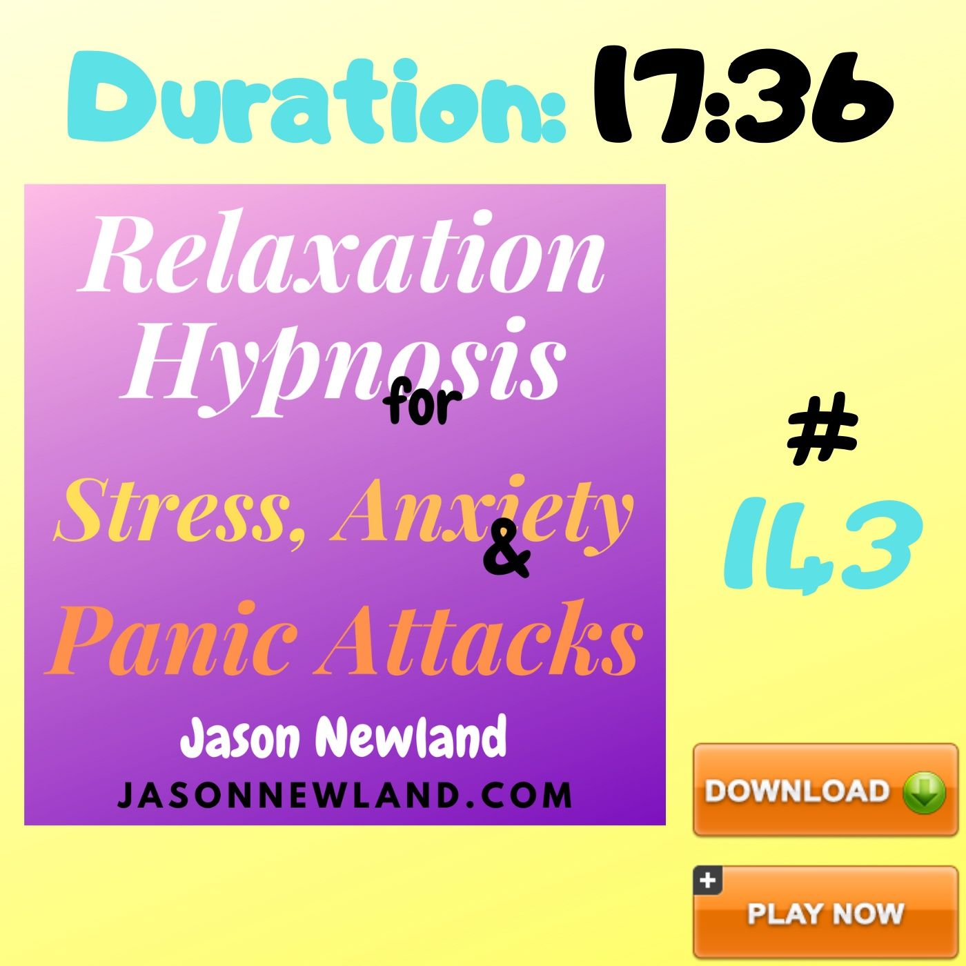 "#143 Relaxation Hypnosis for Stress, Anxiety & Panic Attacks - ""STRESS LICKING FERRET"" (Jason Newland) (28th May 2020)"