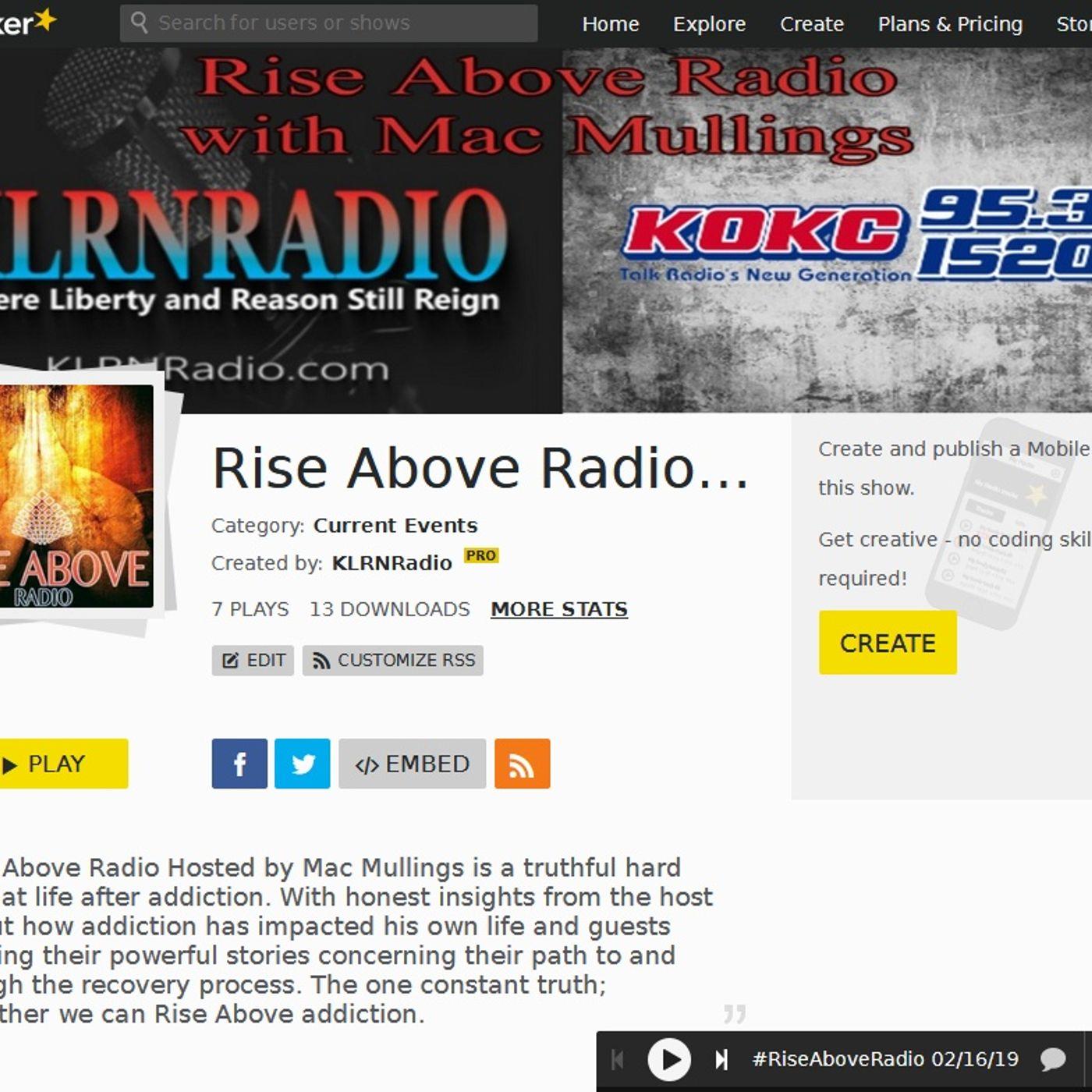 #RiseAboveRadio 07-27-19