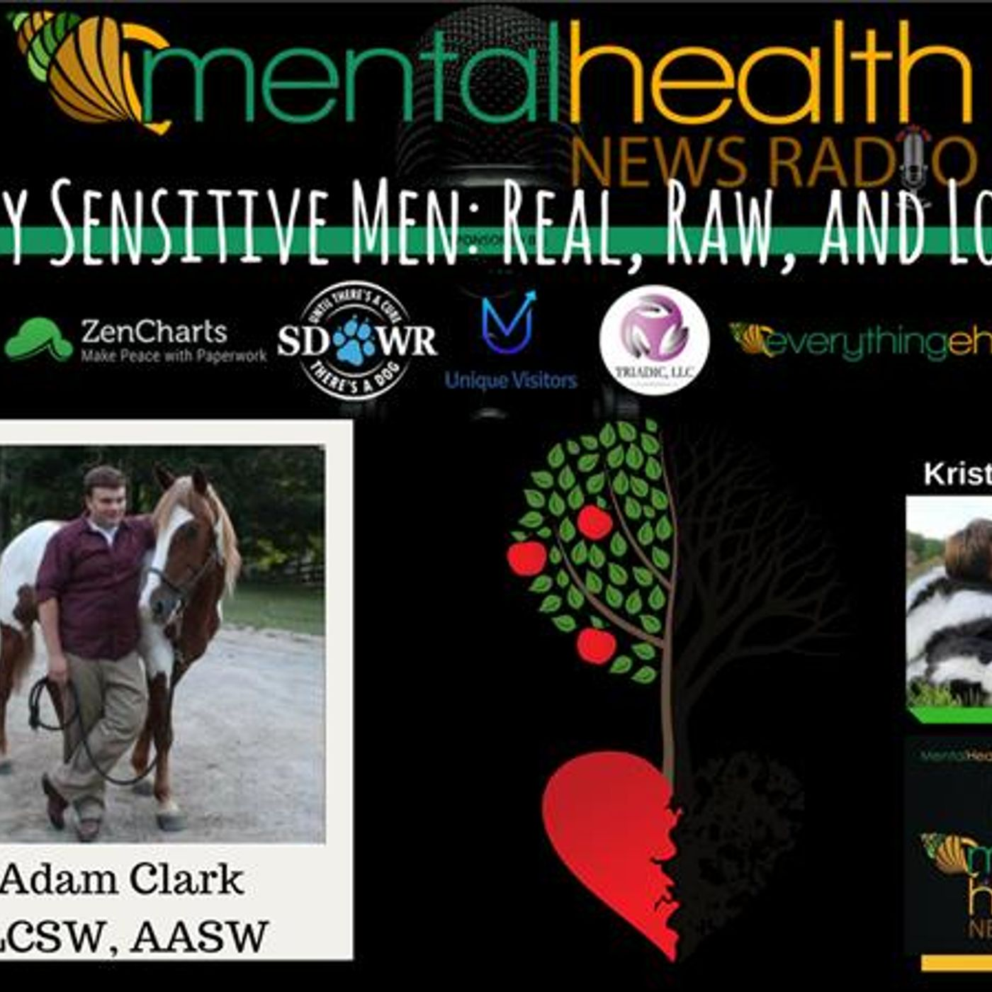 Mental Health News Radio - Highly Sensitive Men: Real, Raw, and Loving with Adam Clark