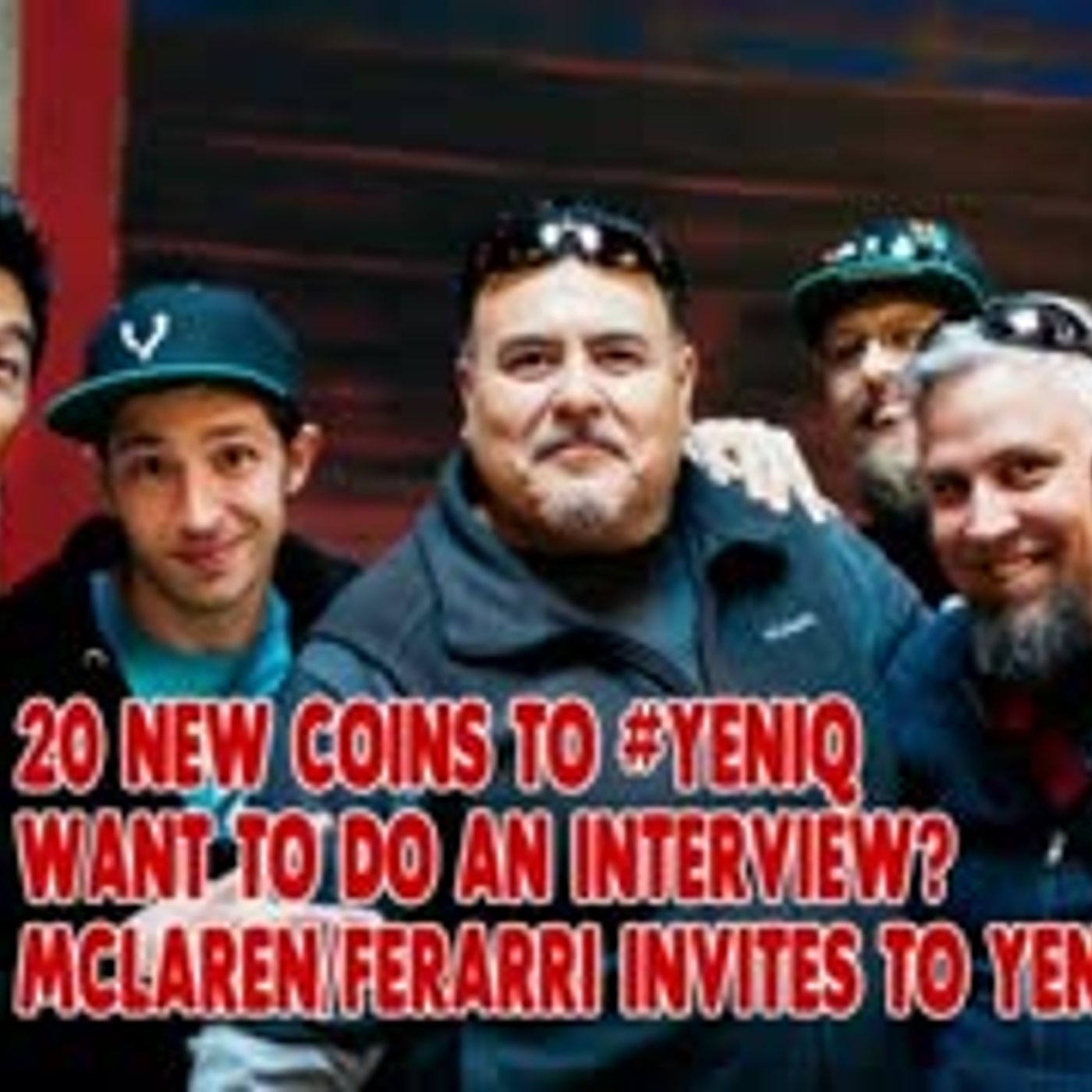 Invites to YEN.io for Mclaren Ferarri! 20 NEW COINS! Want to Interview Crypto Projects