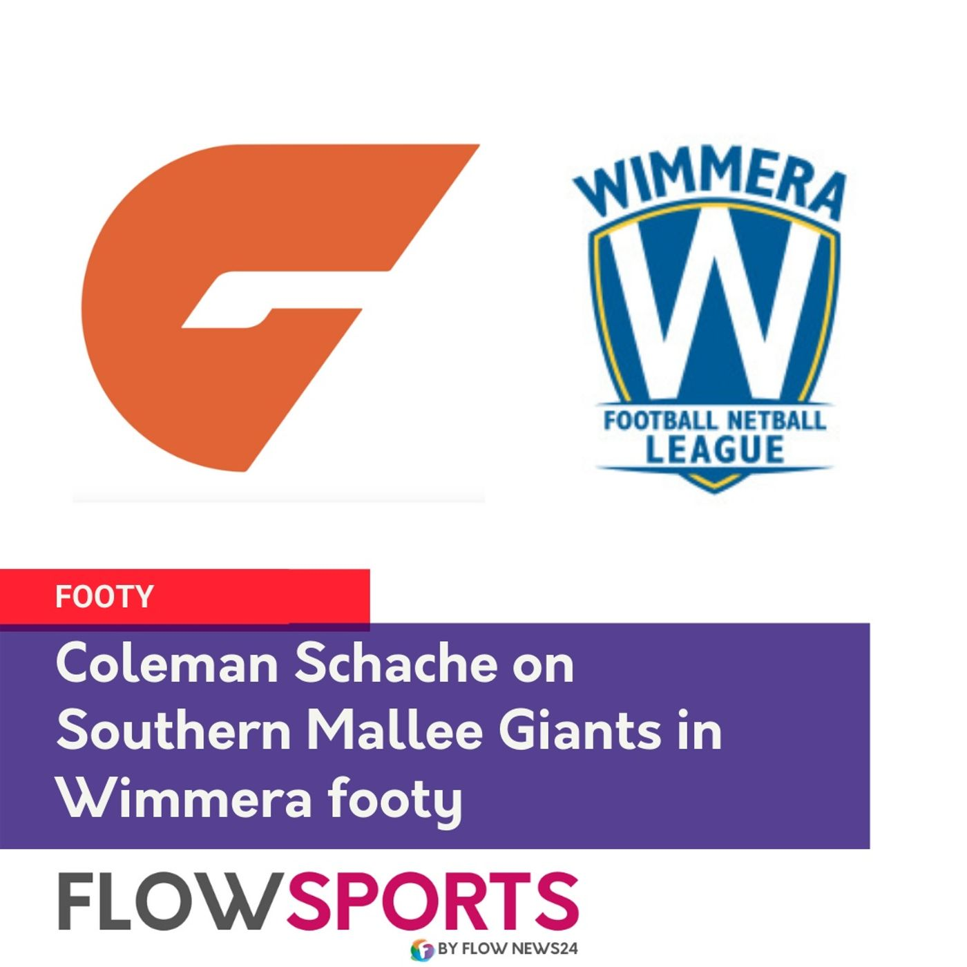 Coleman Schache previews round 8 for Southern Mallee Giants in Wimmera footy
