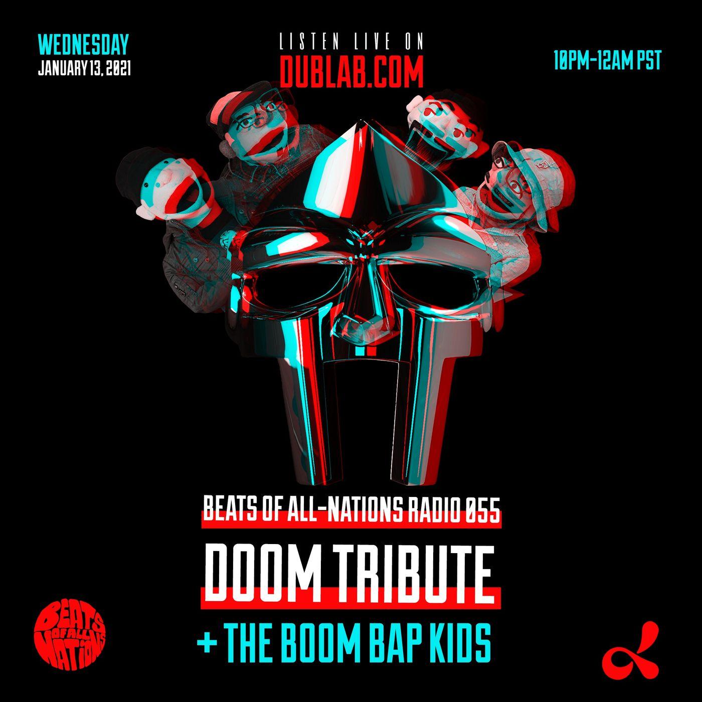 MF DOOM Tribute + The Boom Bap Kids | Beats of All-Nations Radio 055 on Dublab
