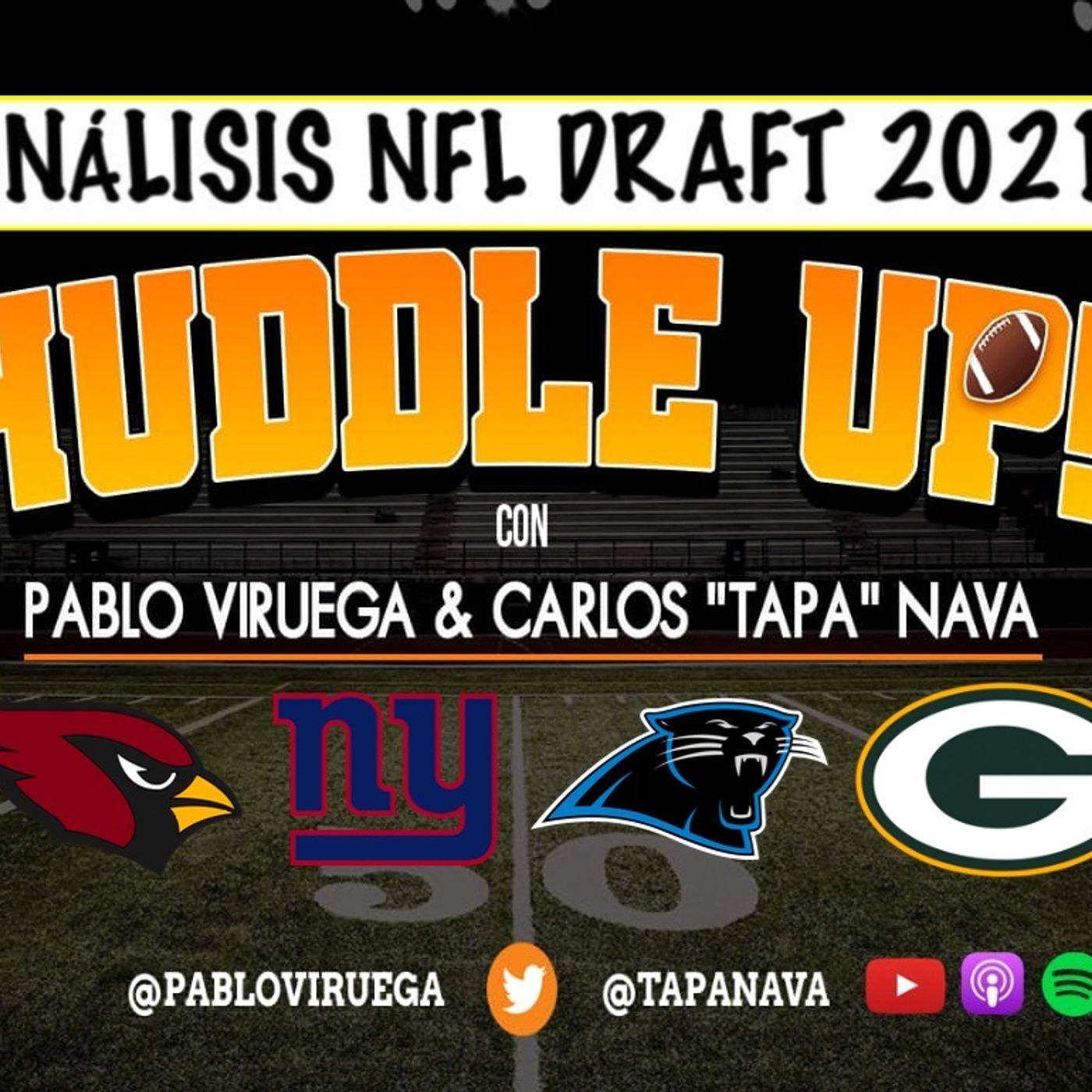 #HuddleUP Análisis #NFLDraft #Panthers #Giants #Cardinals #Packers con @TapaNava y @PabloViruega