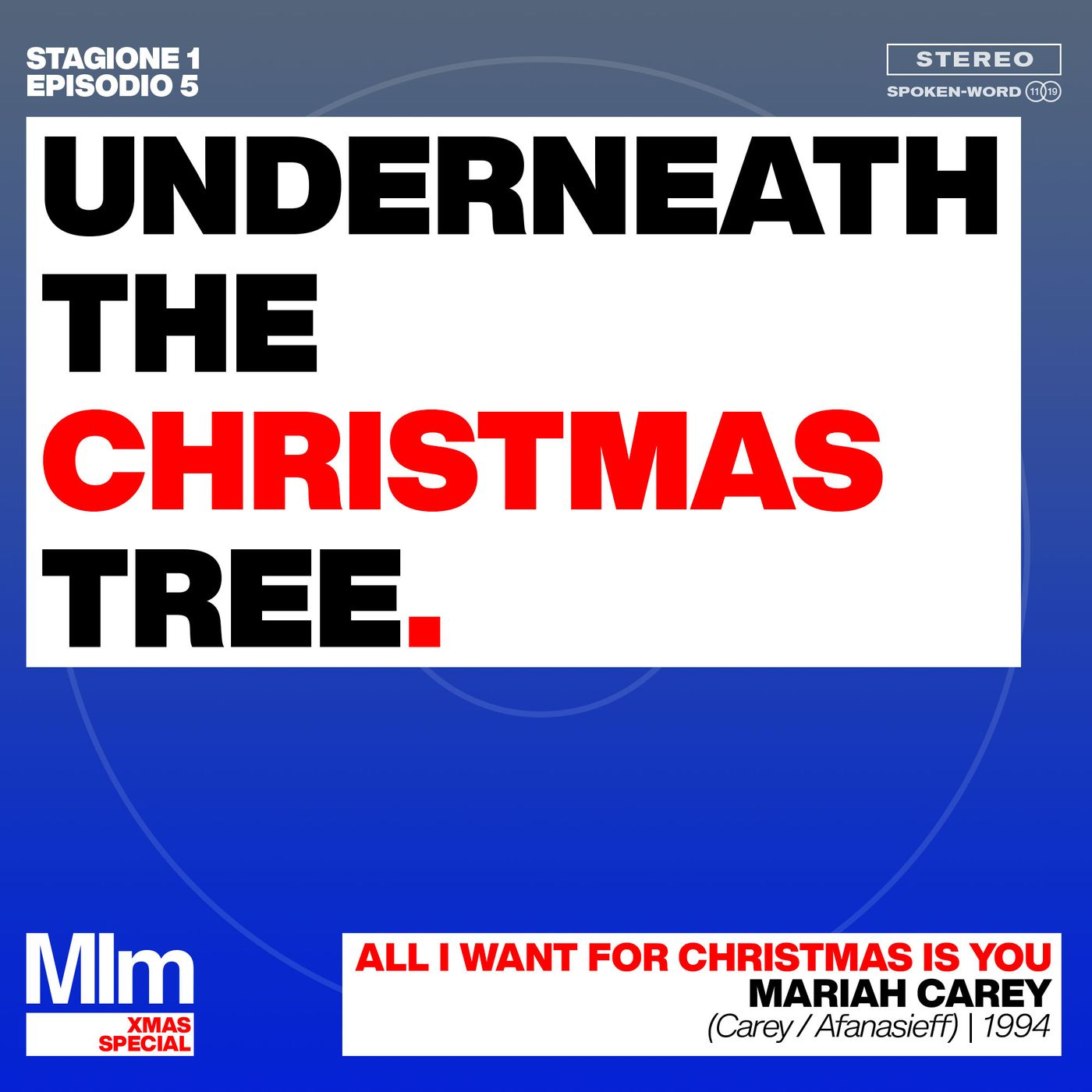 #5: Underneath the Christmas Tree. (ALL I WANT FOR CHRISTMAS IS YOU - Mariah Carey)