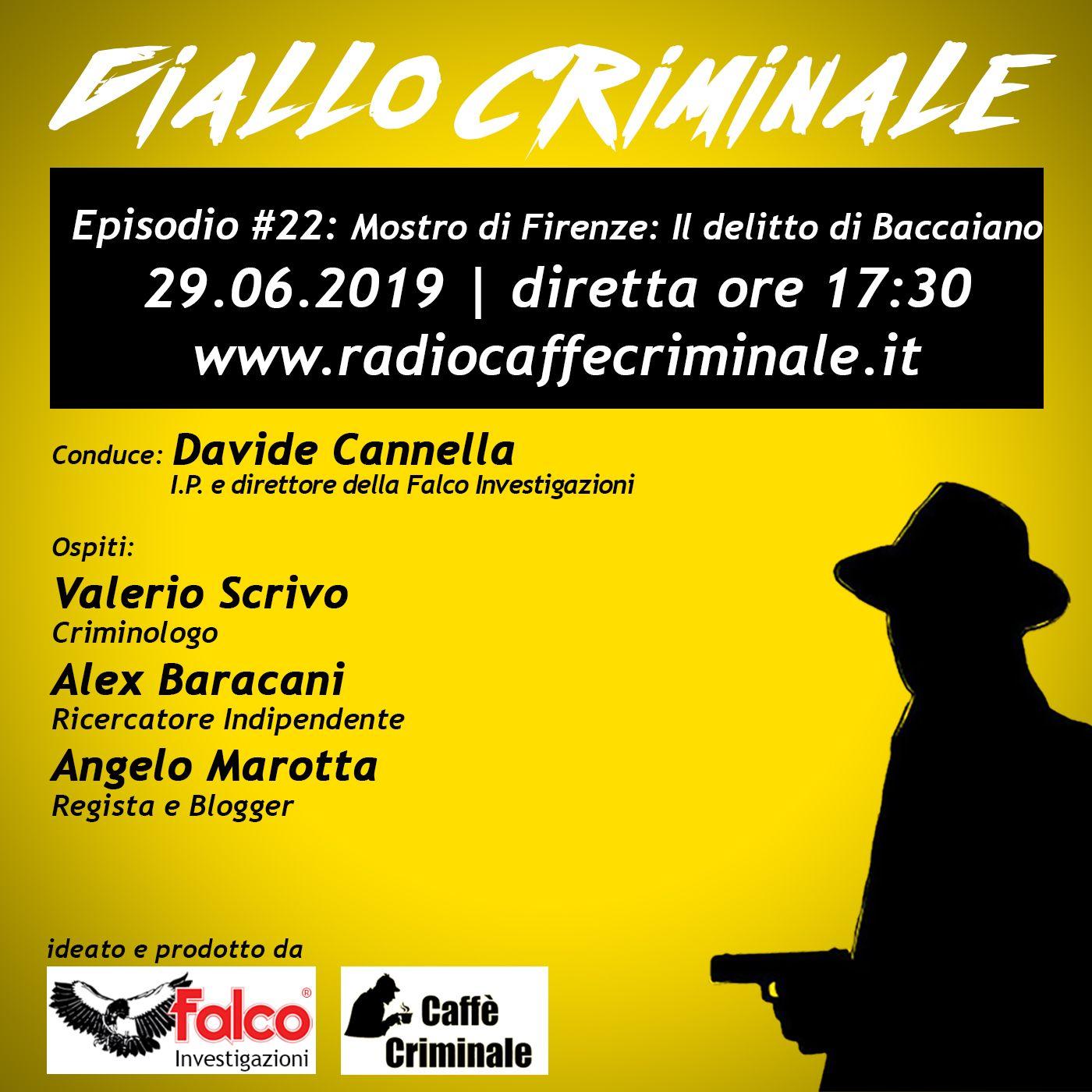 #22 Episodio | Mostro di Firenze, Delitto di Baccaiano_29.06.2019