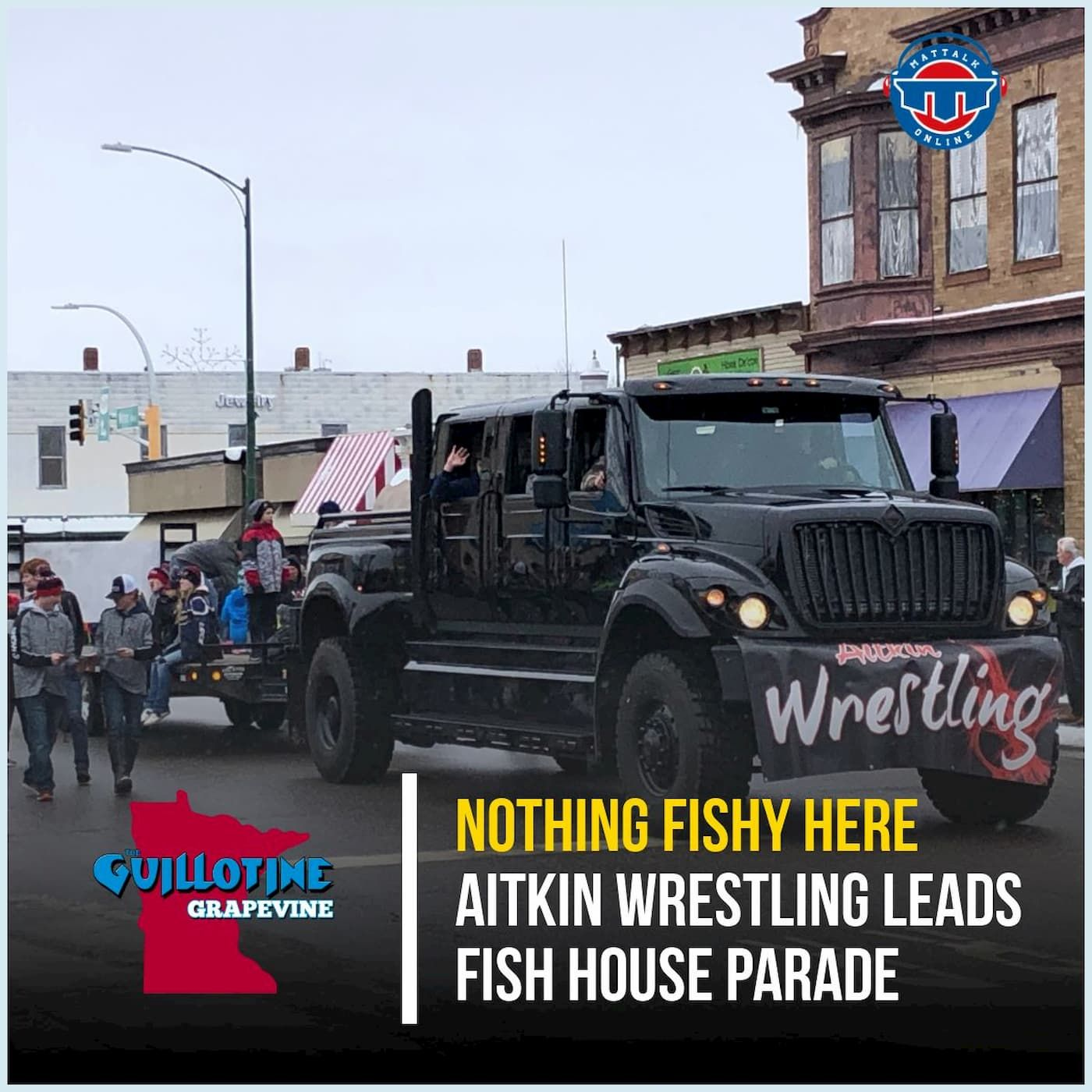 Aitkin wrestling leads the Fish House Parade on Thanksgiving Weekend - GG63