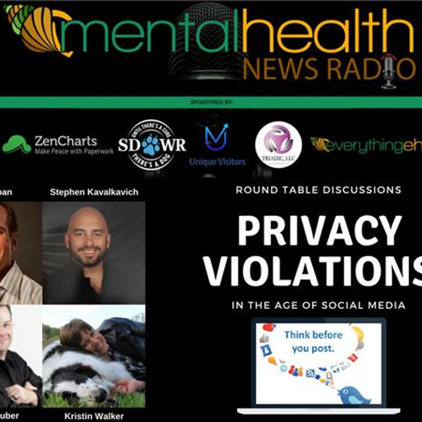 Mental Health News Radio - Round Table Discussions: Privacy Violations in the Age of Social Media