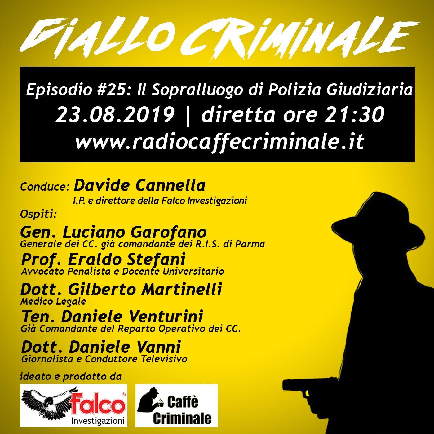 #25 Episodio | Il Sopralluogo di Polizia Giudiziaria_23.08.2019