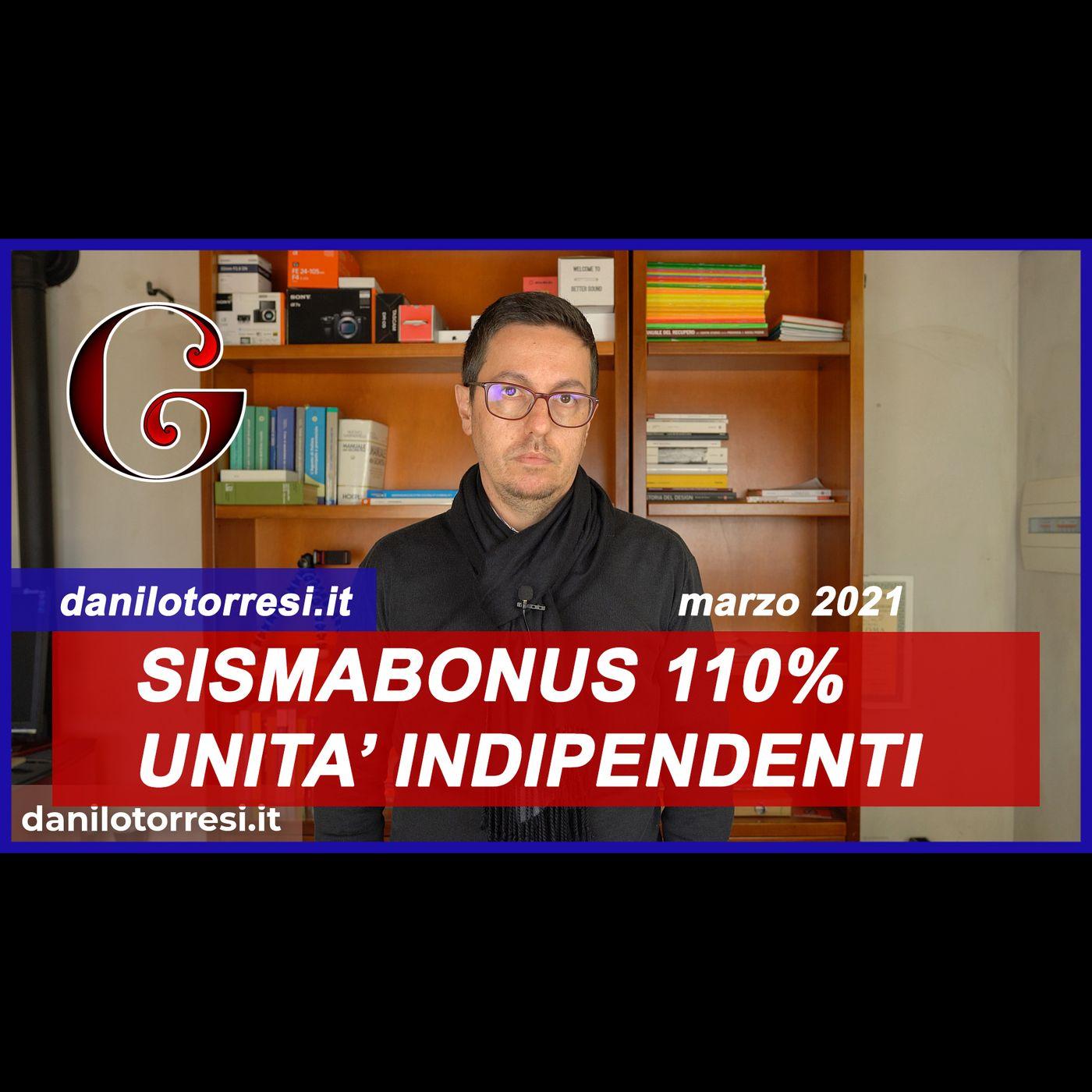 SUPERBONUS 110%: Sismabonus con demolizione e ricostruzione due unità indipendenti