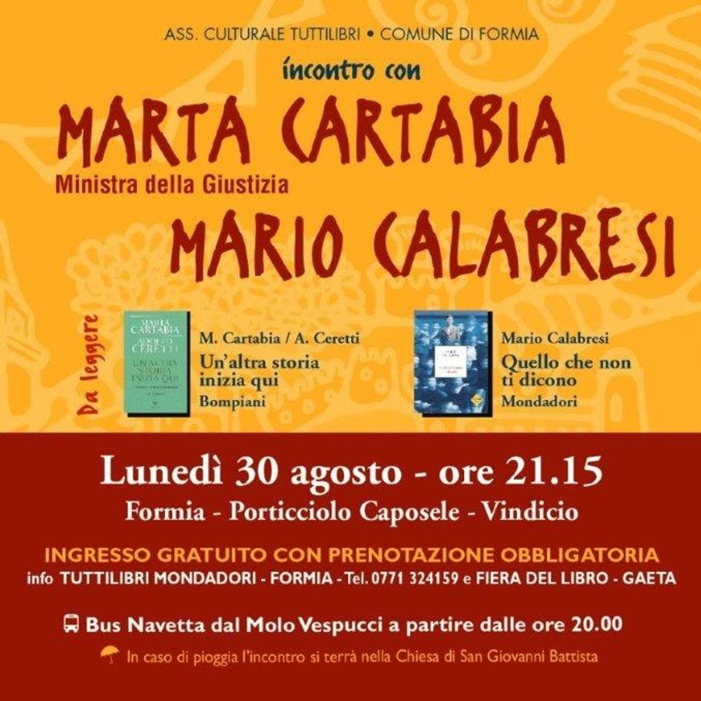 Marta Cartabia e Mario Calabresi a Libri Sulla Cresta dell'Onda 2021