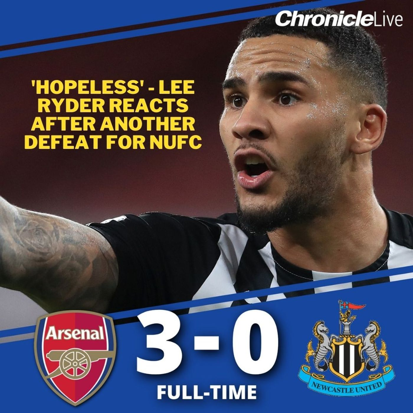 'Hopeless' - Lee Ryder reacts to Newcastle's 3-0 defeat to Arsenal