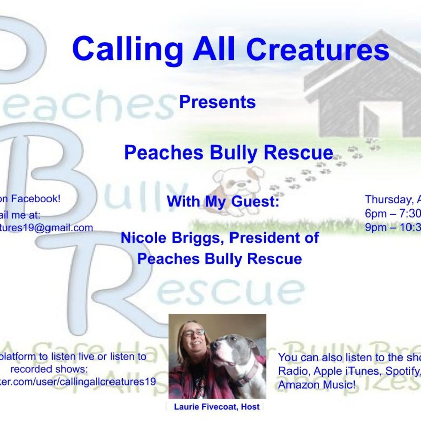 Calling All Creatures Presents Peaches Bully Rescue