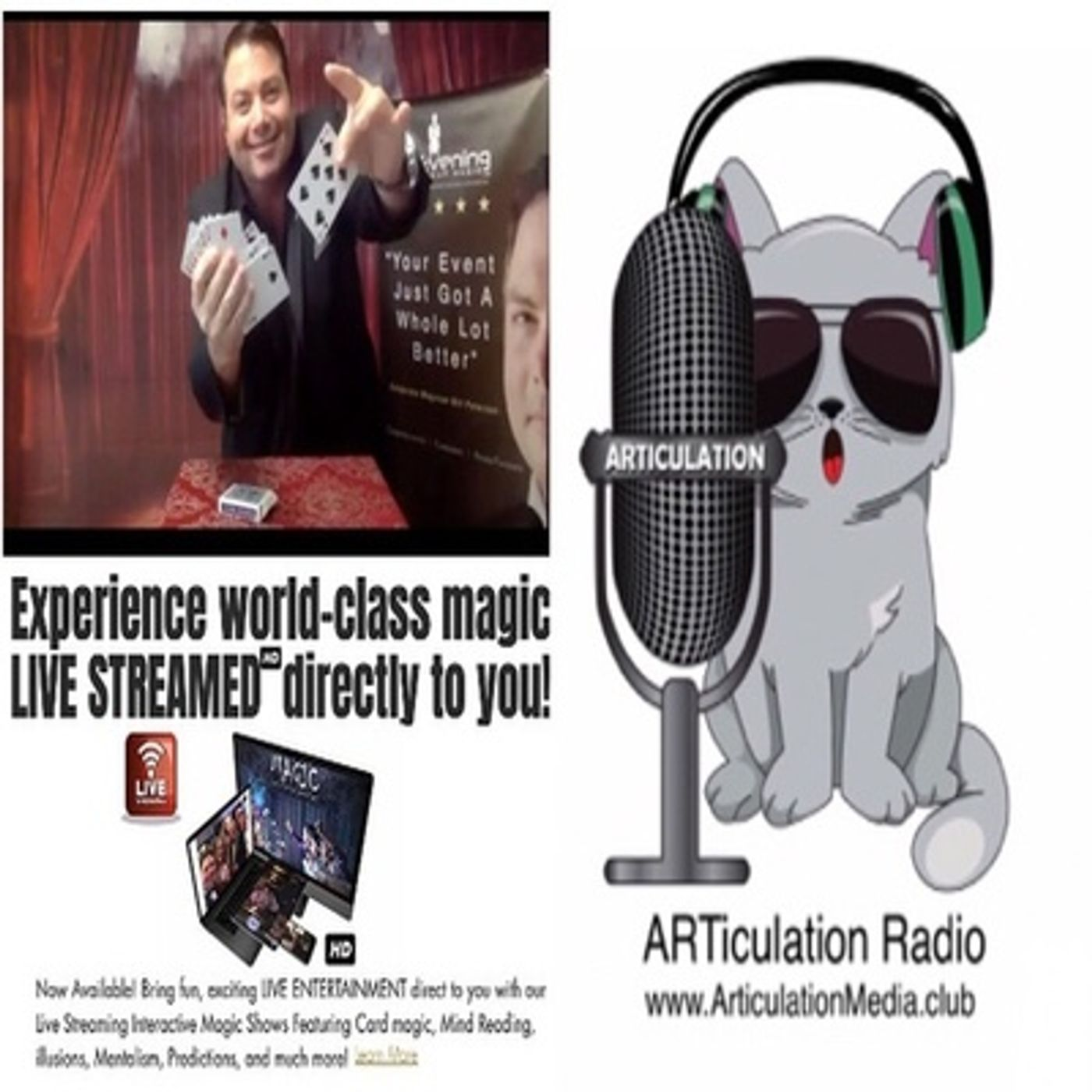 ARTiculation Radio — BNQ1 - MAKING MOMENTS MAGICAL (interview w/ Magician Bill Peterson)
