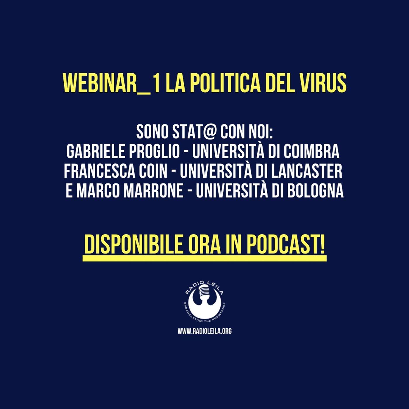 Webinar_1 La Politica del Virus