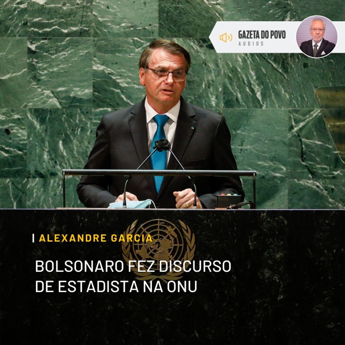 Bolsonaro fez discurso de estadista na ONU