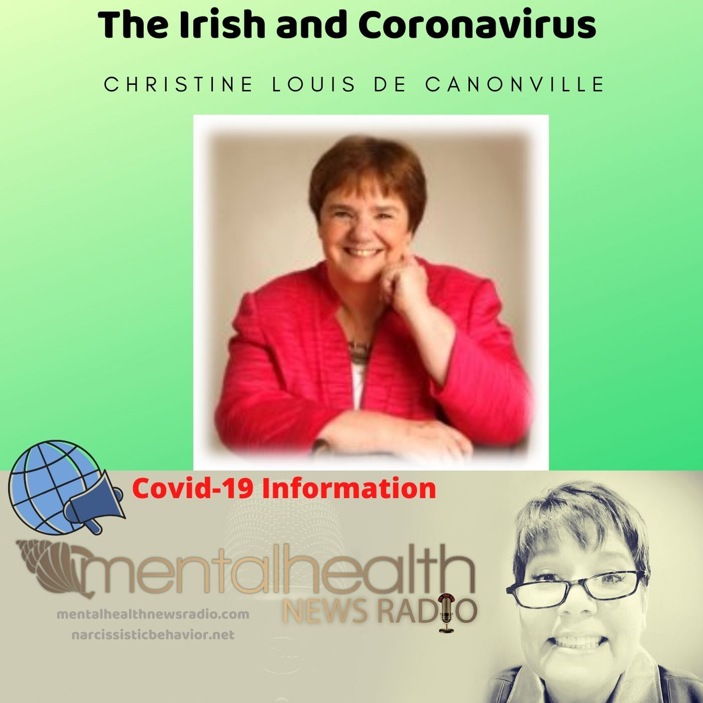 Mental Health News Radio - Christine Louis de Canonville on the Irish and Coronavirus