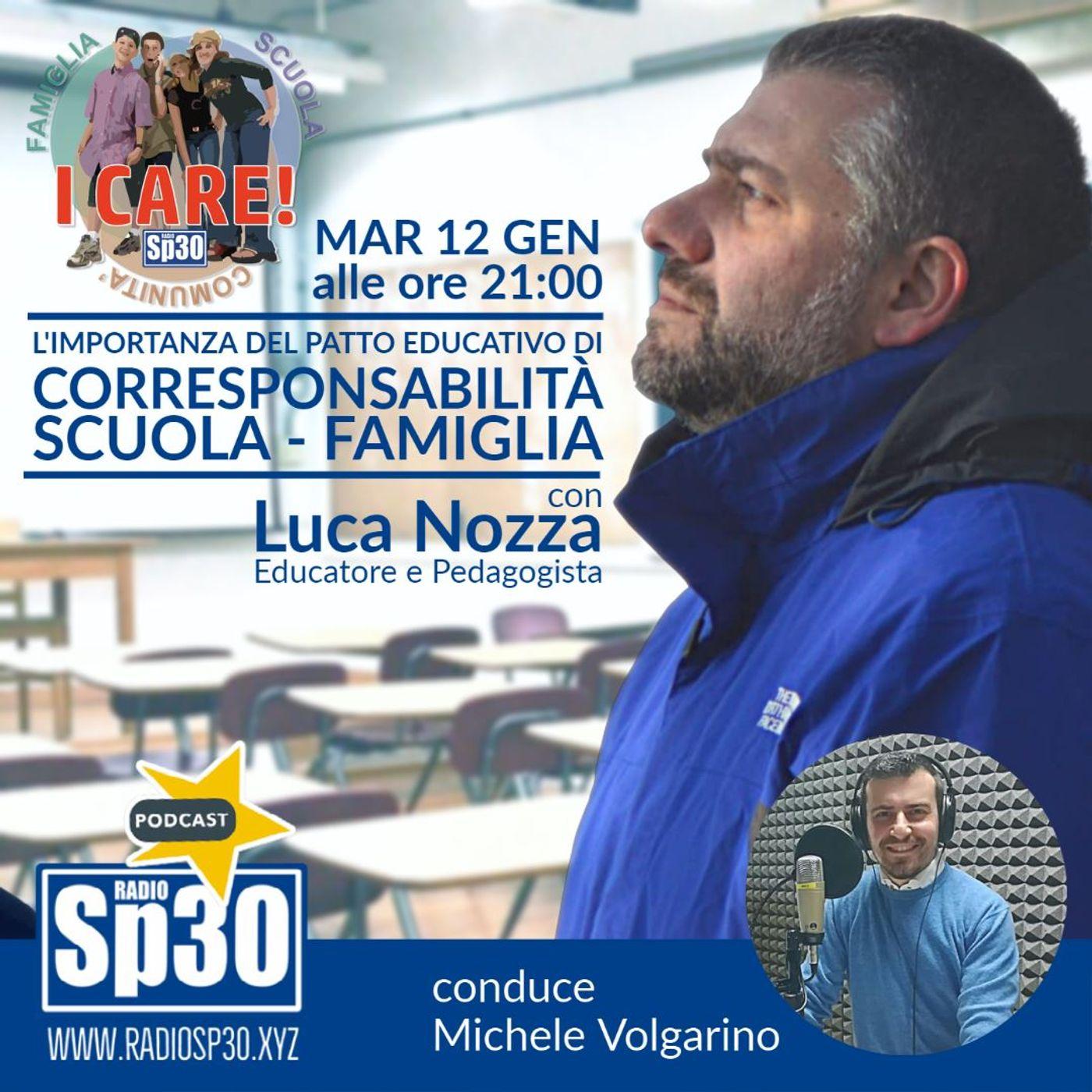 #ICARE - L'importanza del patto educativo di corresponsabilità scuola - famiglia. Con Luca Nozza