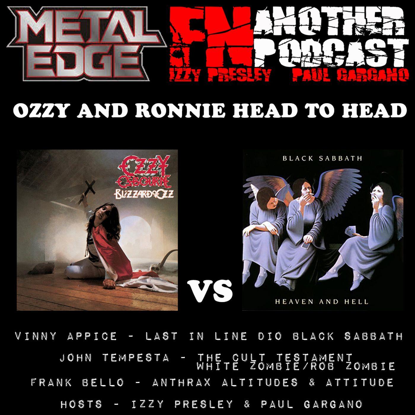 METAL EDGE PRESENTS - BLIZZARD OF OZZ VS HEAVEN AND HELL - VINNY APPICE FRANK BELLO JOHN TEMPESTA
