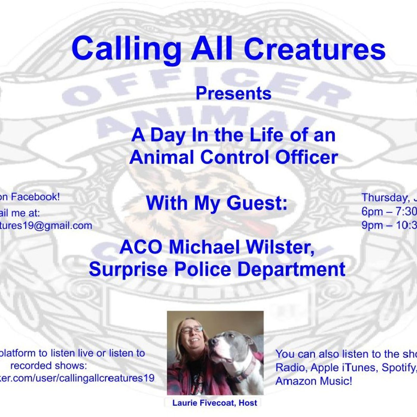 Calling All Creatures Presents A Day in the Life of an Animal Control Officer
