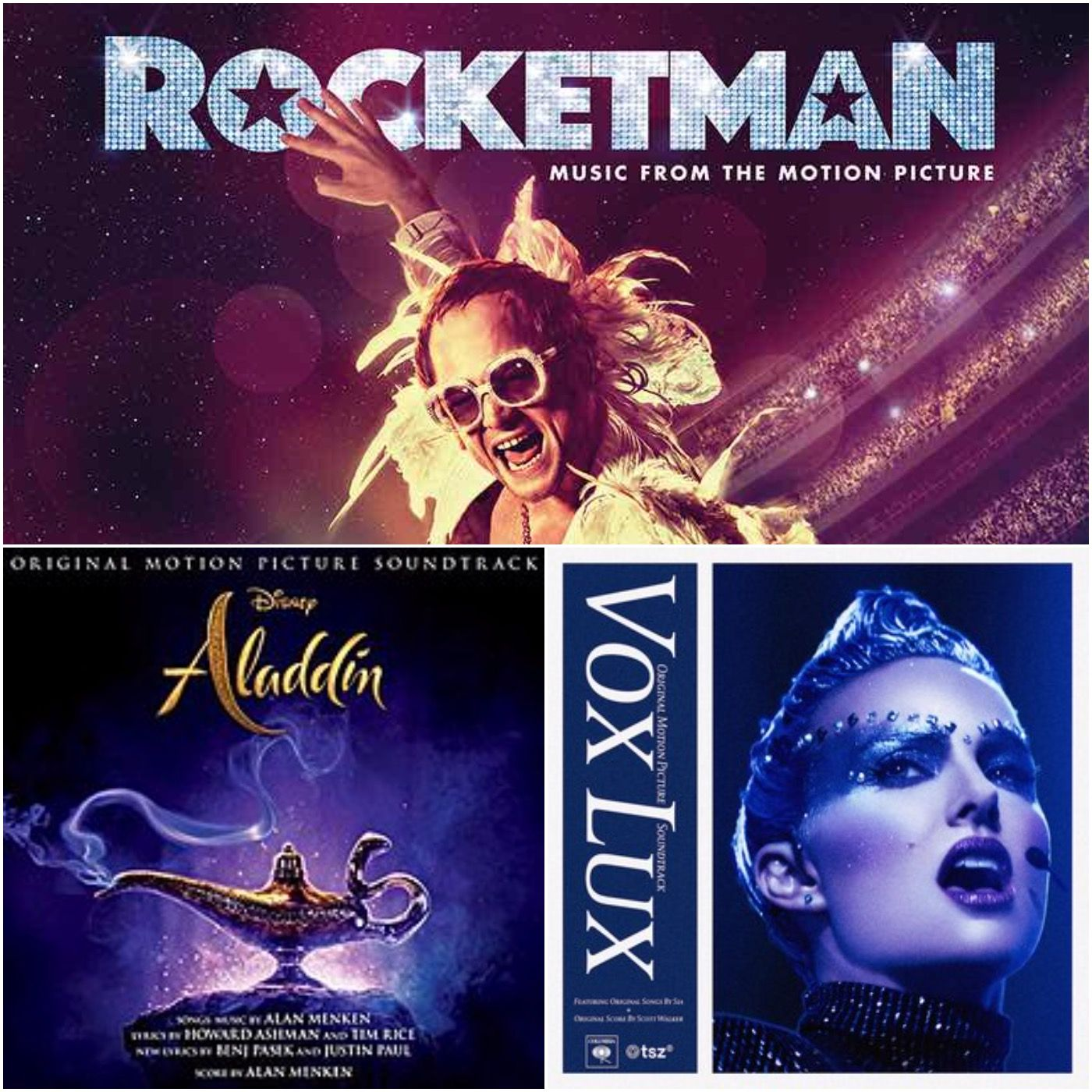 7. Aladdin / Vox Lux / Rocketman / Top 5 Scores with Songs