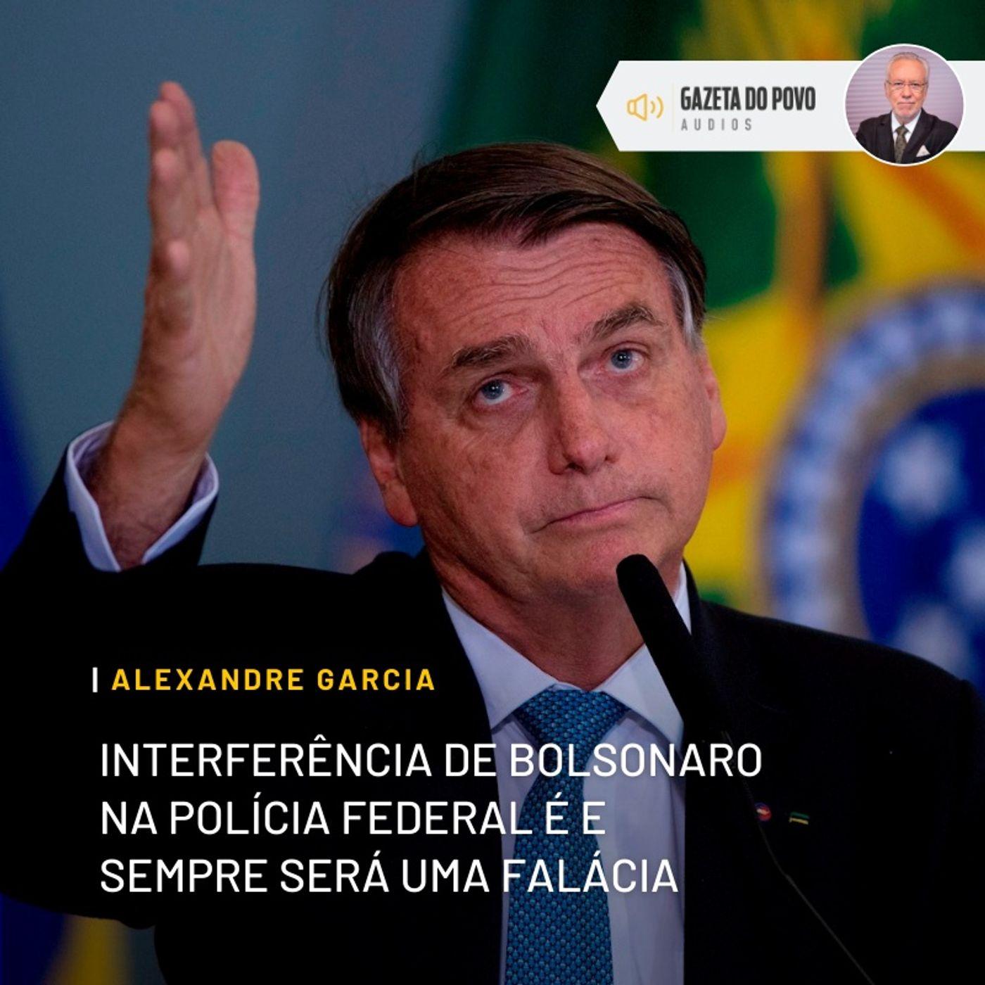 Interferência de Bolsonaro na Polícia Federal é e sempre será uma falácia