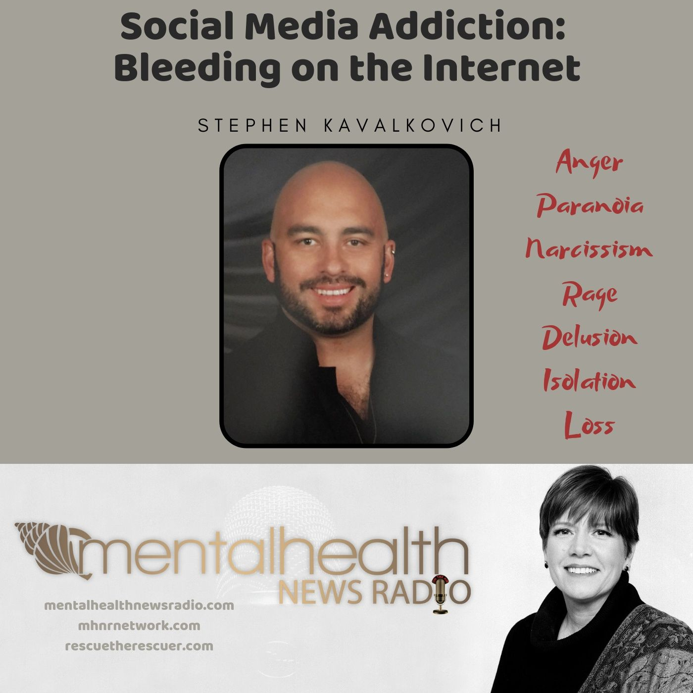 Mental Health News Radio - Social Media Addiction: Bleeding on the Internet