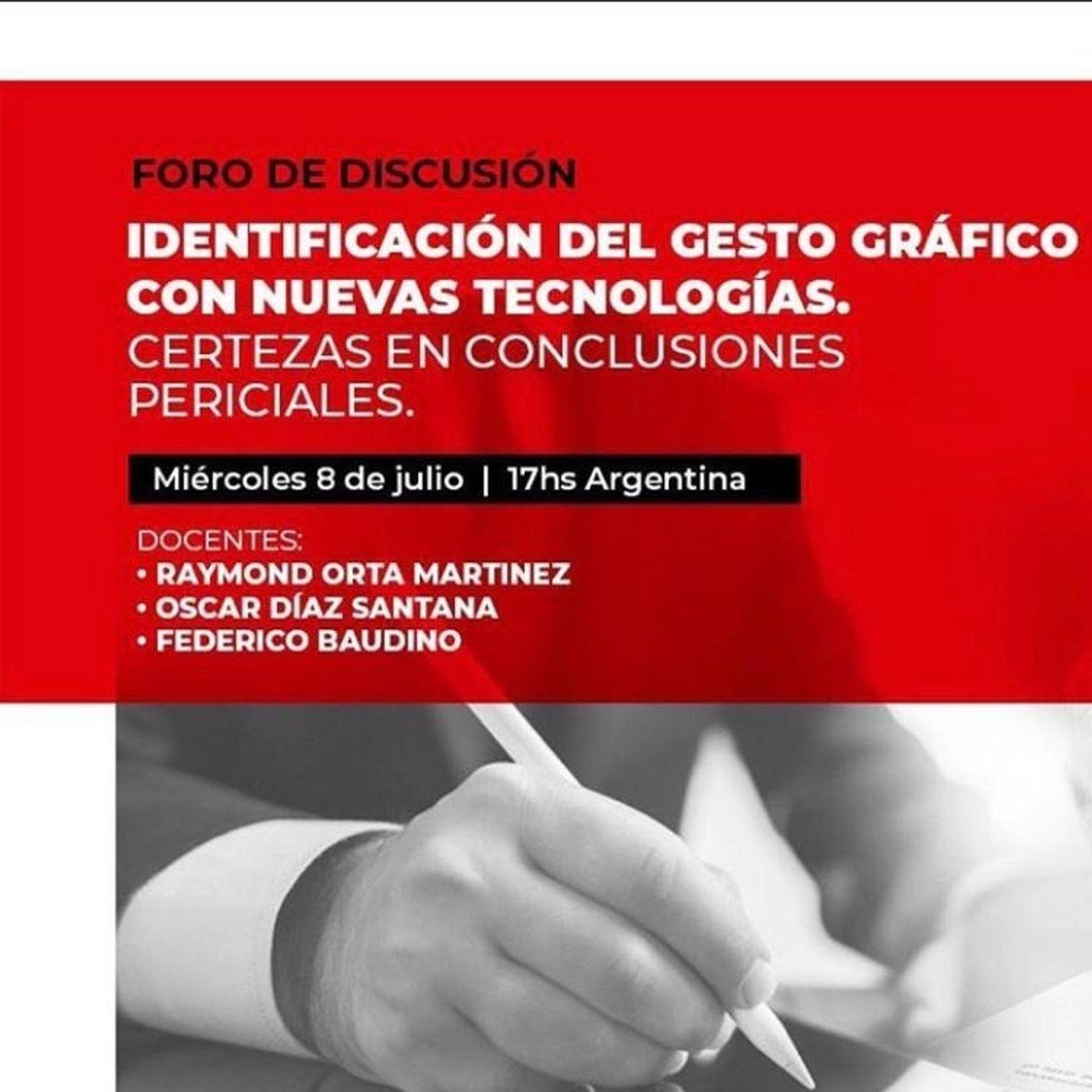 Identificación del gesto gráfico con nuevas tecnologías y Certezas en Conclusiones Periciales