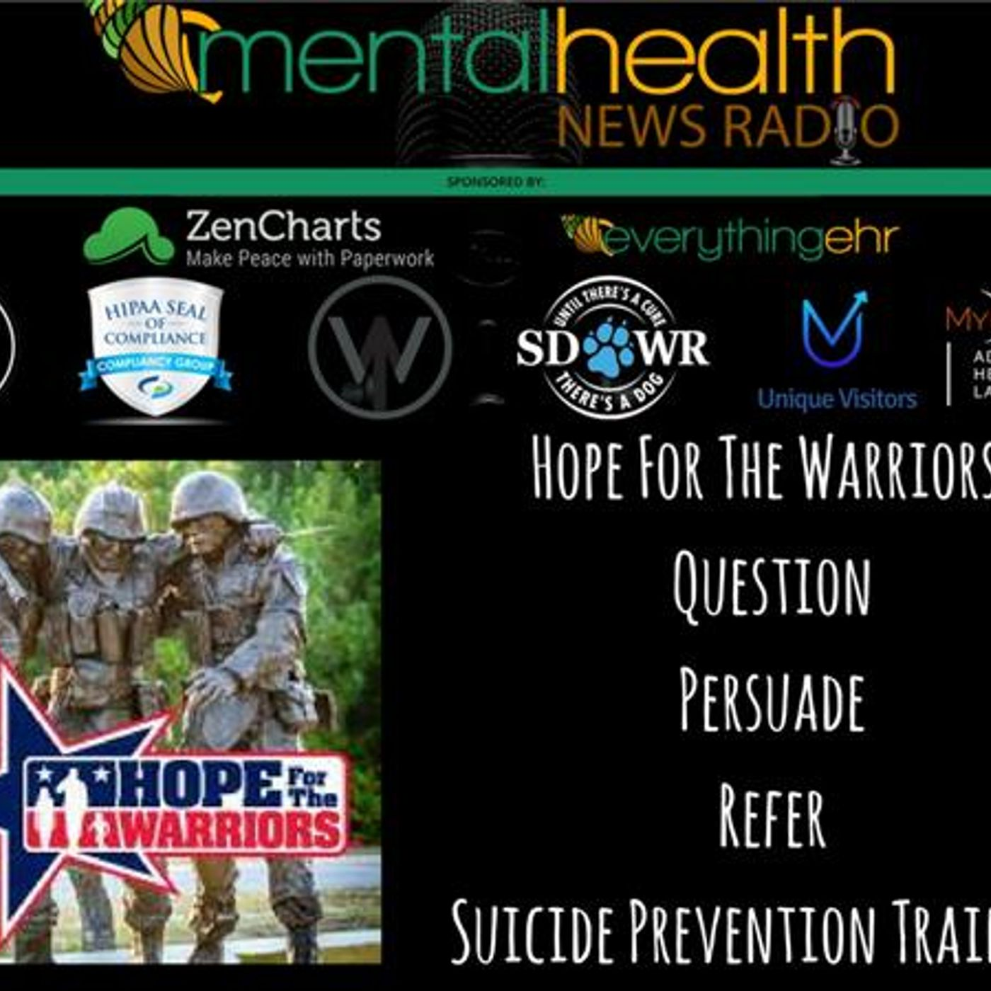 Mental Health News Radio - Hope For The Warriors: Question, Persuade, Refer Suicide Prevention Training