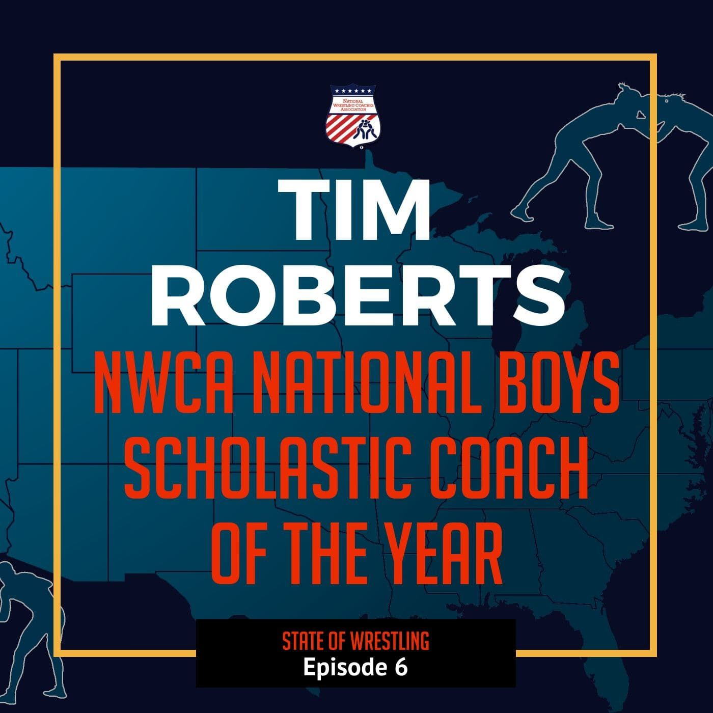 NWCA National Scholastic Boys Coach of the Year Tim Roberts of Dundee (Mich.)