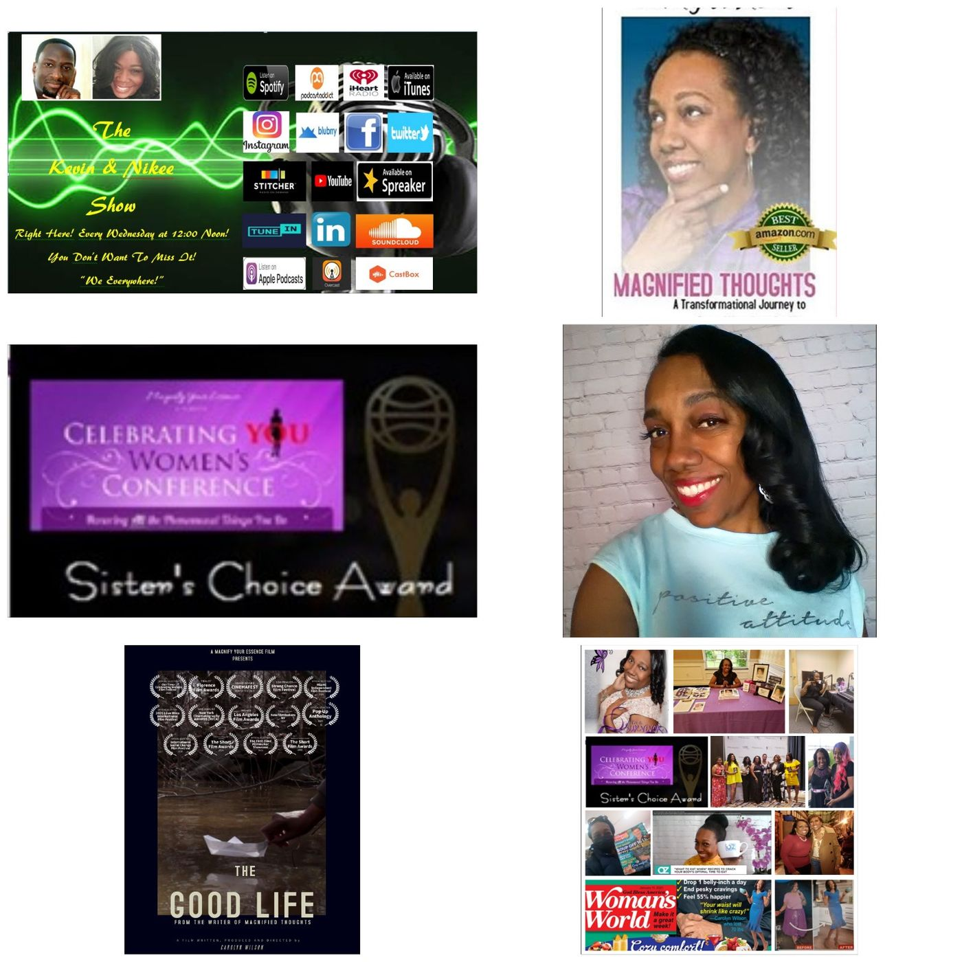 The Kevin & Nikee Show  - Women's History Month - Carolyn Wilson - Multi Award-winning Filmmaker, Bestselling Author of Magnify Your Essence
