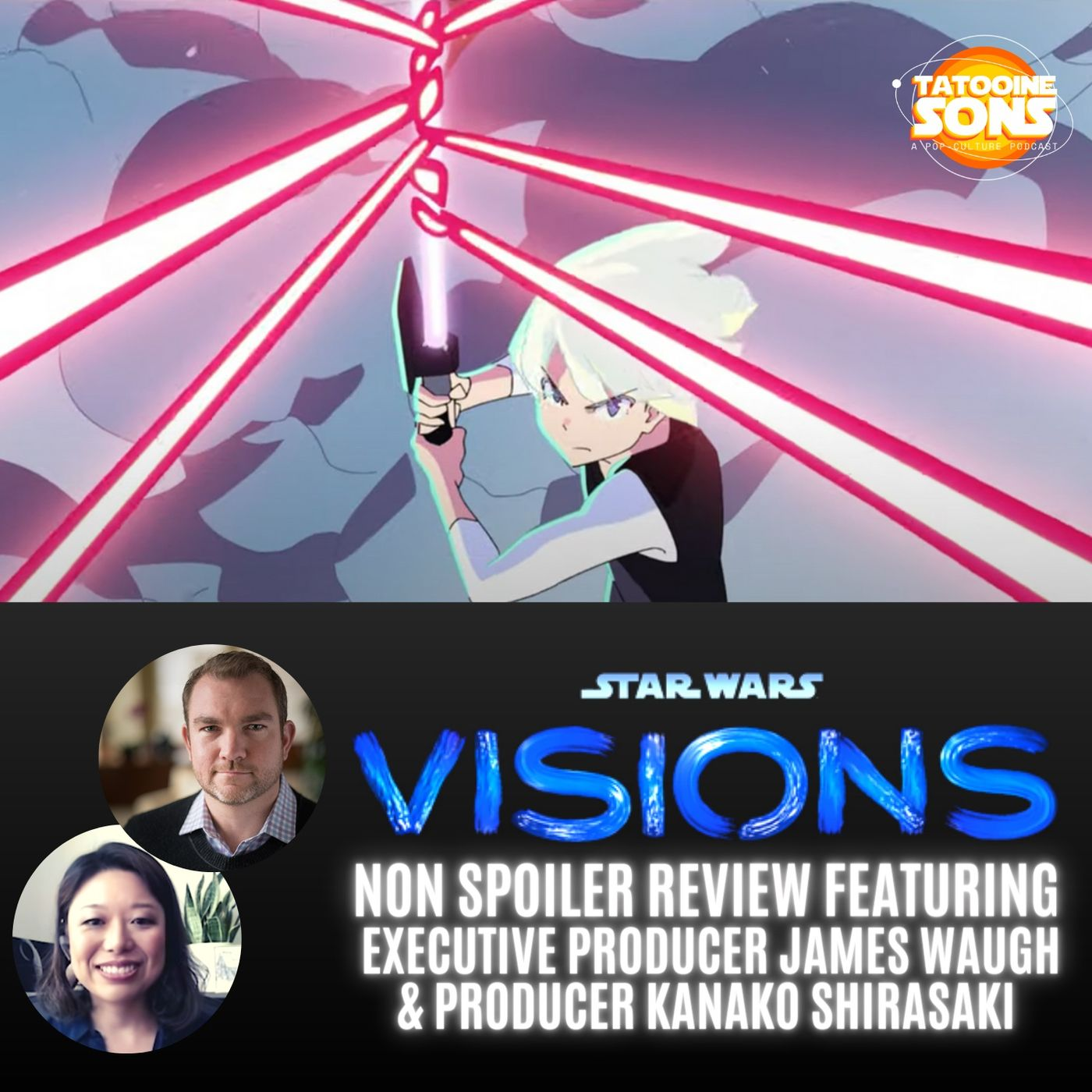 Spoiler Free Review of Star Wars Visions PLUS Interview with Producers James Waugh and Kanako Shirasaki