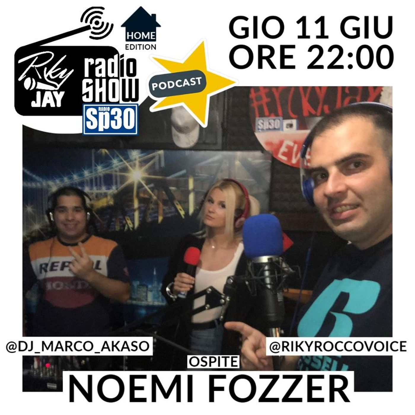 RikyJay Radio Show - #34 - Home Edition - Ospite Noemi Fozzer