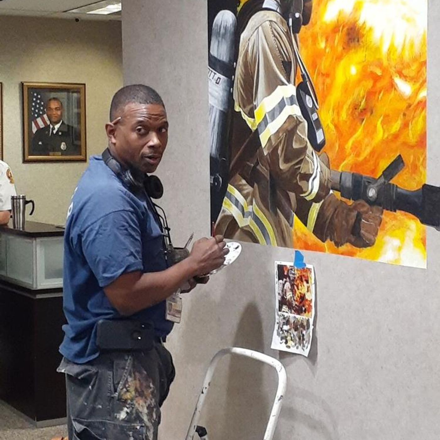 Gwinnett Resident & Retired Fire Fiighter Says He Will Paint Until He Gets Old