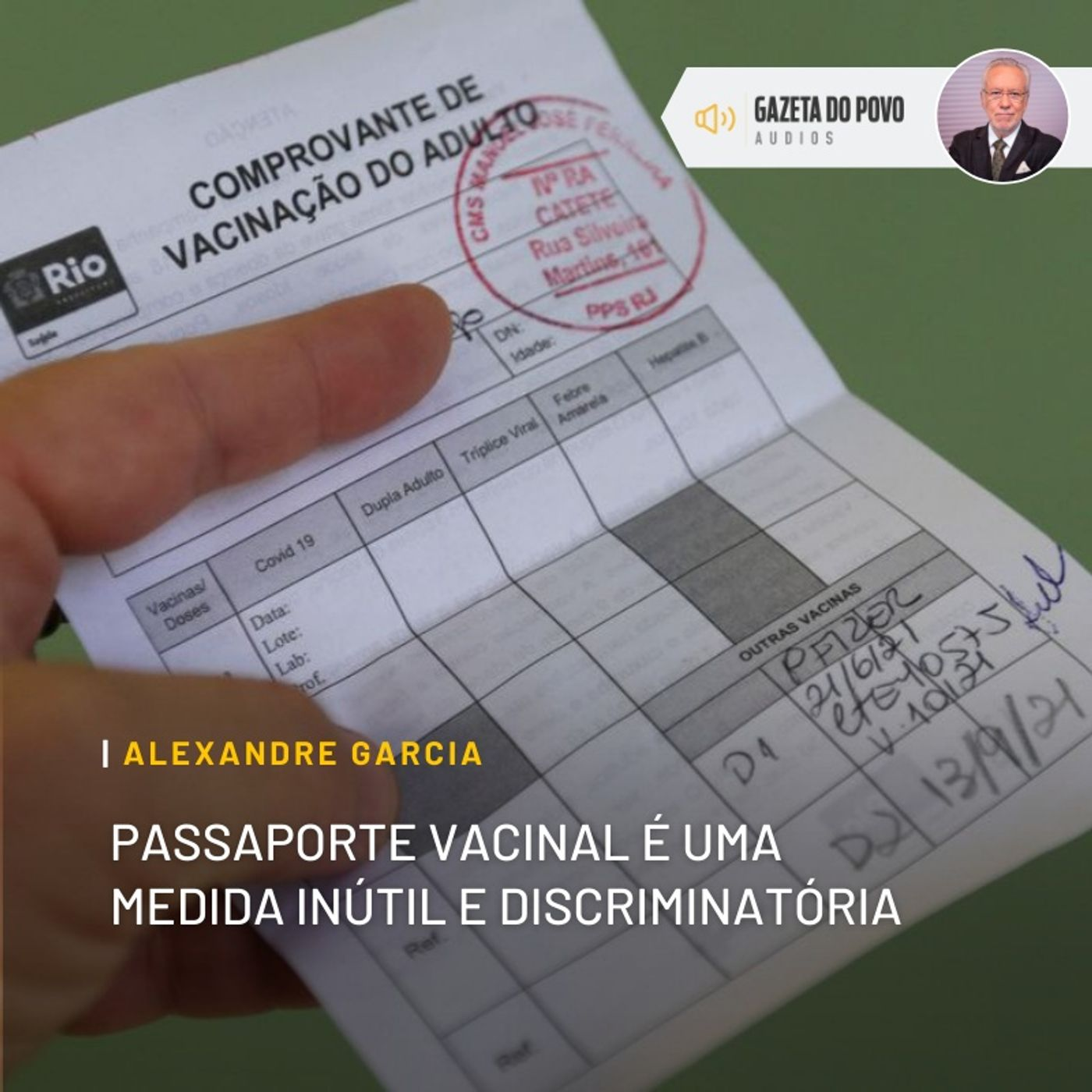 Passaporte vacinal é uma medida inútil e discriminatória