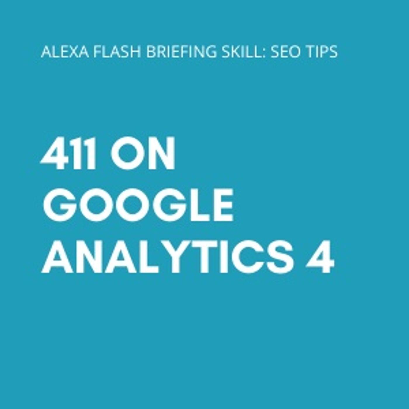 411 on Google Analytics 4