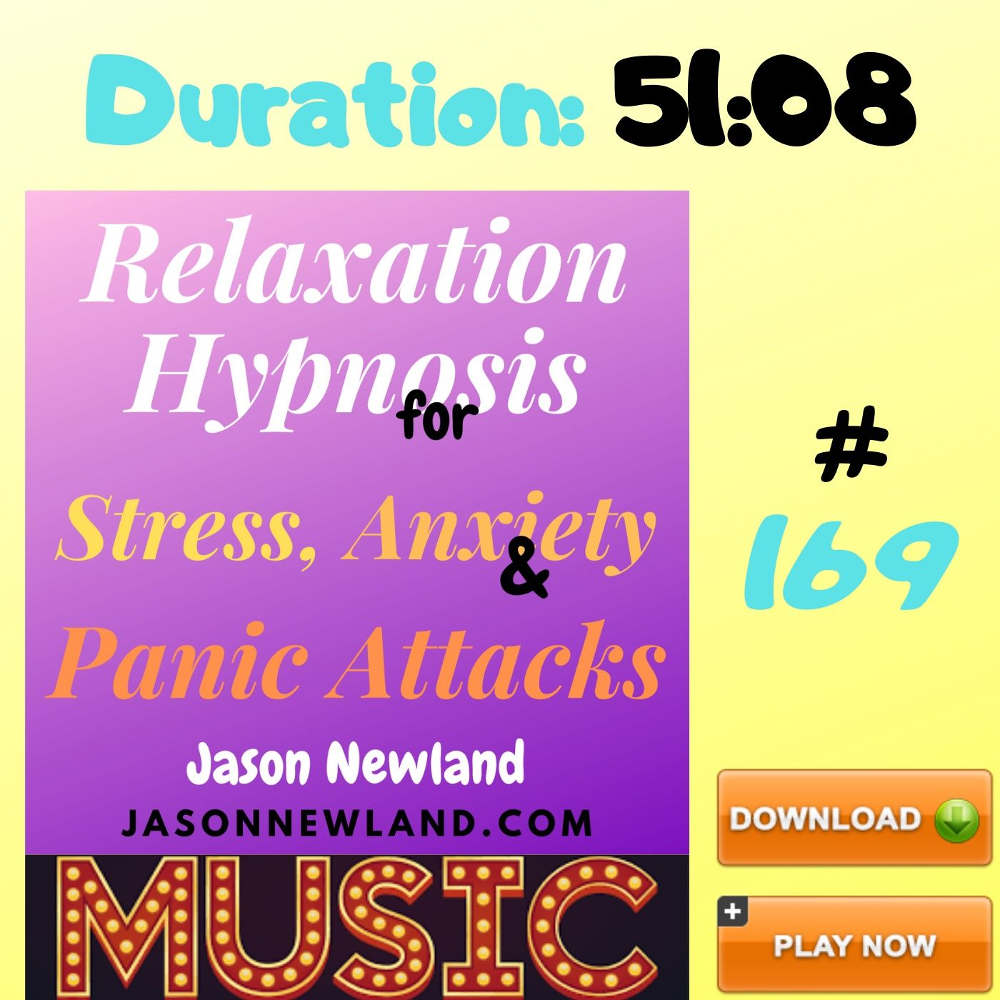 "#169 Relaxation Hypnosis for Stress, Anxiety & Panic Attacks - ""RELAX AND FALL ASLEEP"" (Jason Newland) (4th August 2020) with MUSIC"