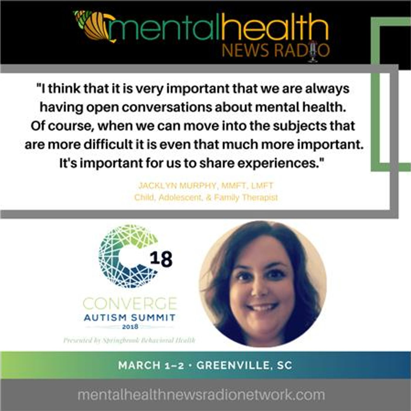 Mental Health News Radio - Sexual Awareness and Autism Spectrum Disorder with Jacklyn Murphy