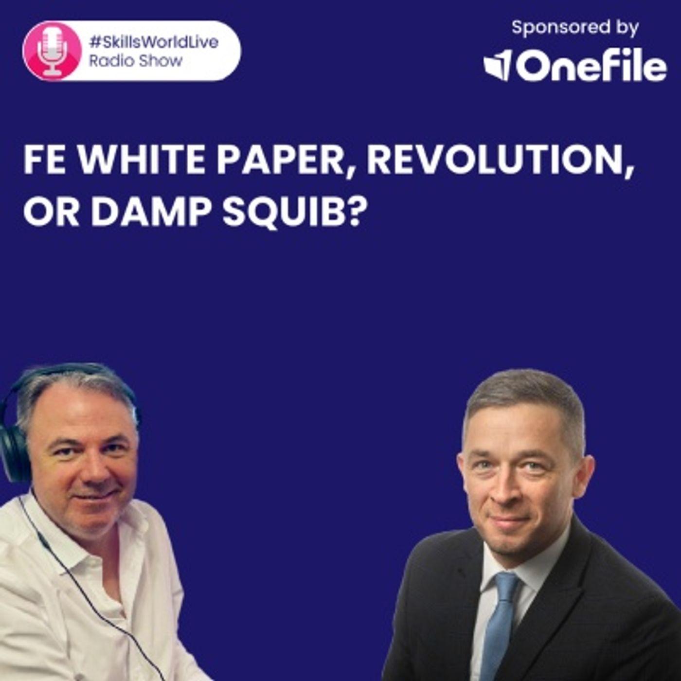 FE White Paper: Revolution, or damp squib? #SkillsWorldLive 3.7