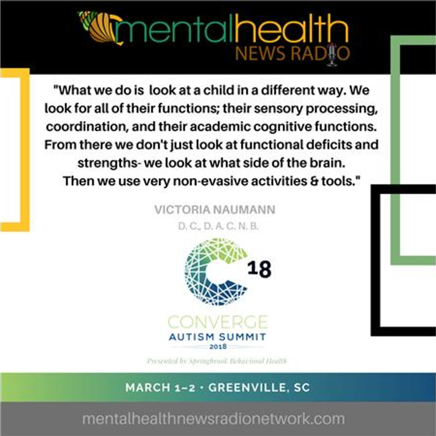 Mental Health News Radio - Brain Balance: Creating Synergy in the Brains of Autistic Children