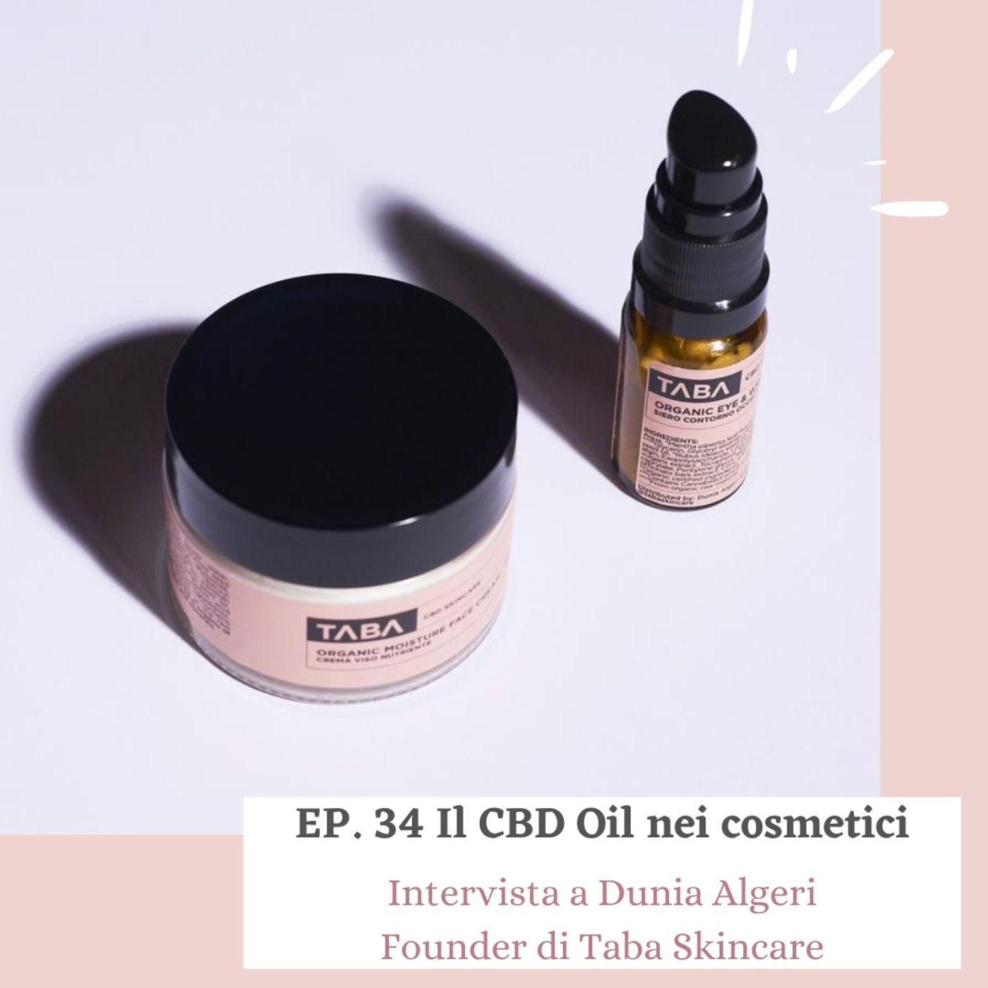 Ep. 34 Il CBD Oil nei Cosmetici - la prima linea di skincare derivata dalla Cannabis.