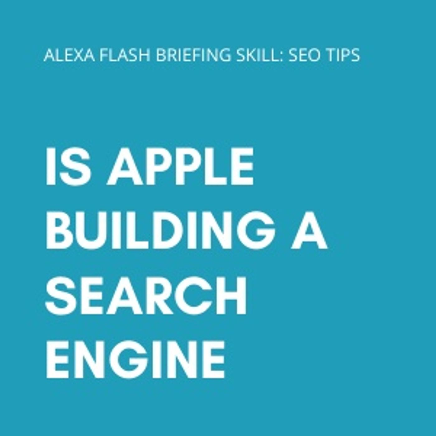 Is Apple building a search engine?