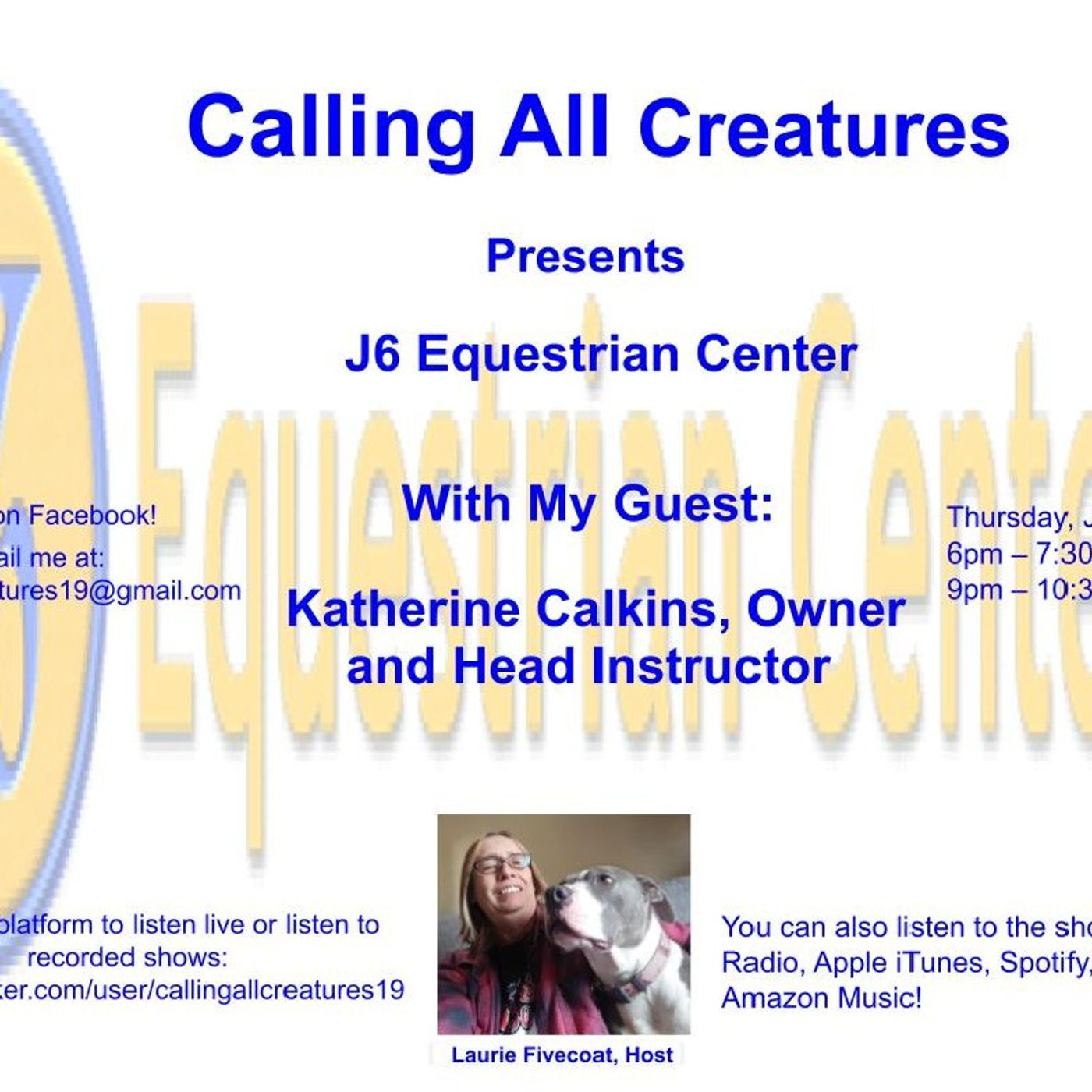 Calling All Creatures Presents J6 Equestrian Center
