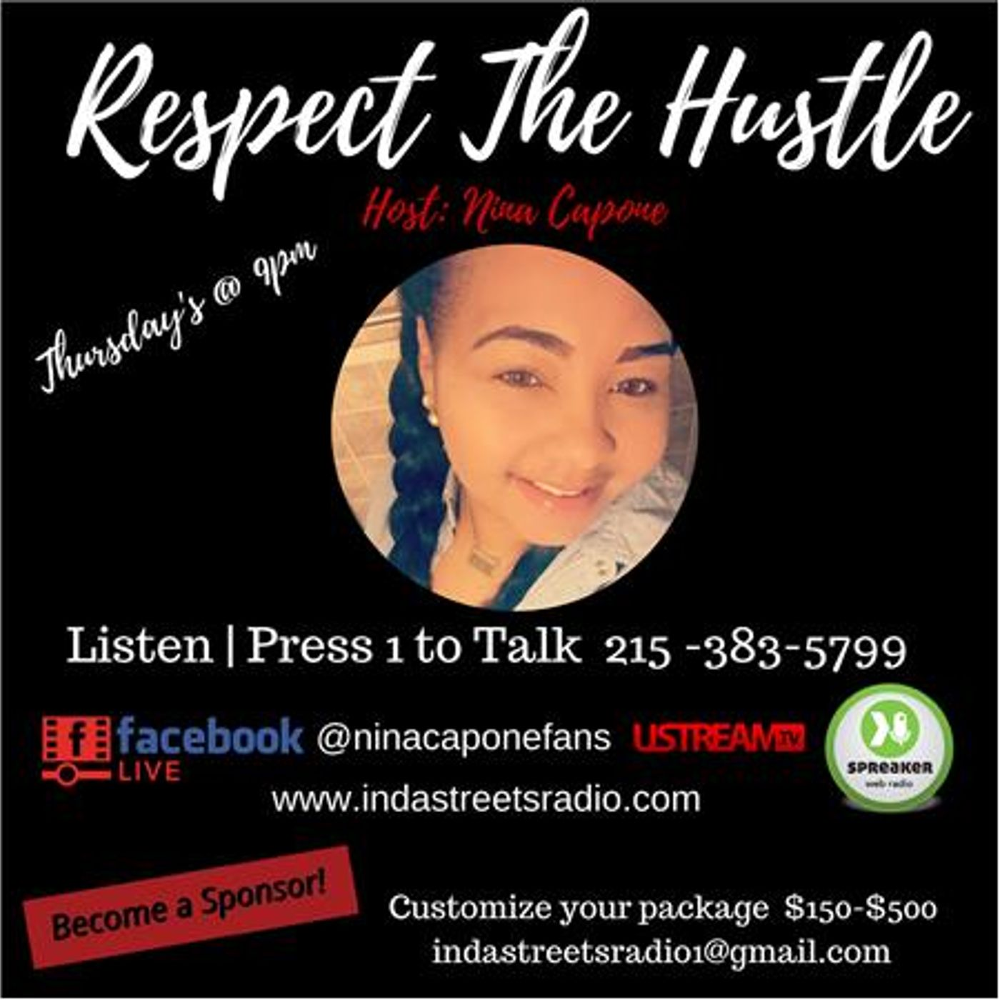 Respect the Hustle is Bizack! Live with Nina Capone