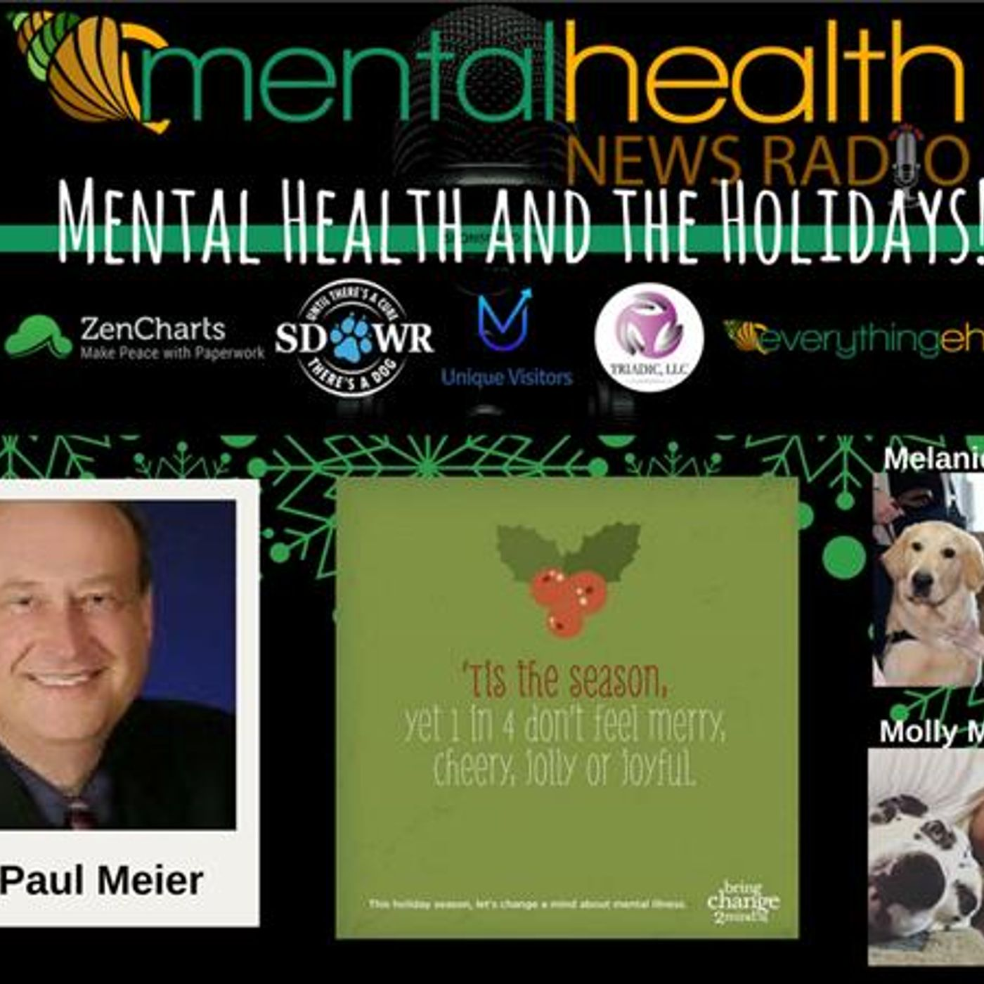 Mental Health News Radio - Round Table Discussions with Dr. Paul Meier: Mental Health and the Holidays