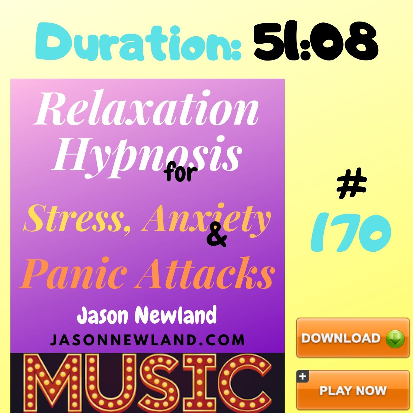 "#170 Relaxation Hypnosis for Stress, Anxiety & Panic Attacks - ""RELAX AND FALL ASLEEP"" (Jason Newland) (10th August 2020) with MUSIC"