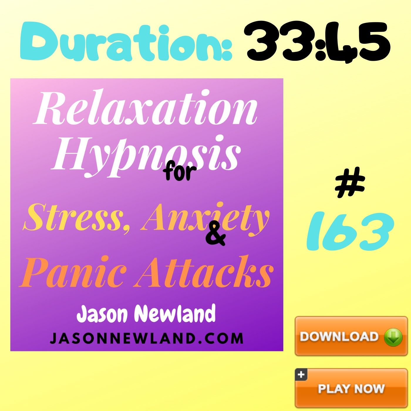 "#163 Relaxation Hypnosis for Stress, Anxiety & Panic Attacks - ""RELAX DEEPLY / SLEEP DEEPLY"" (Jason Newland) (7th July 2020)"