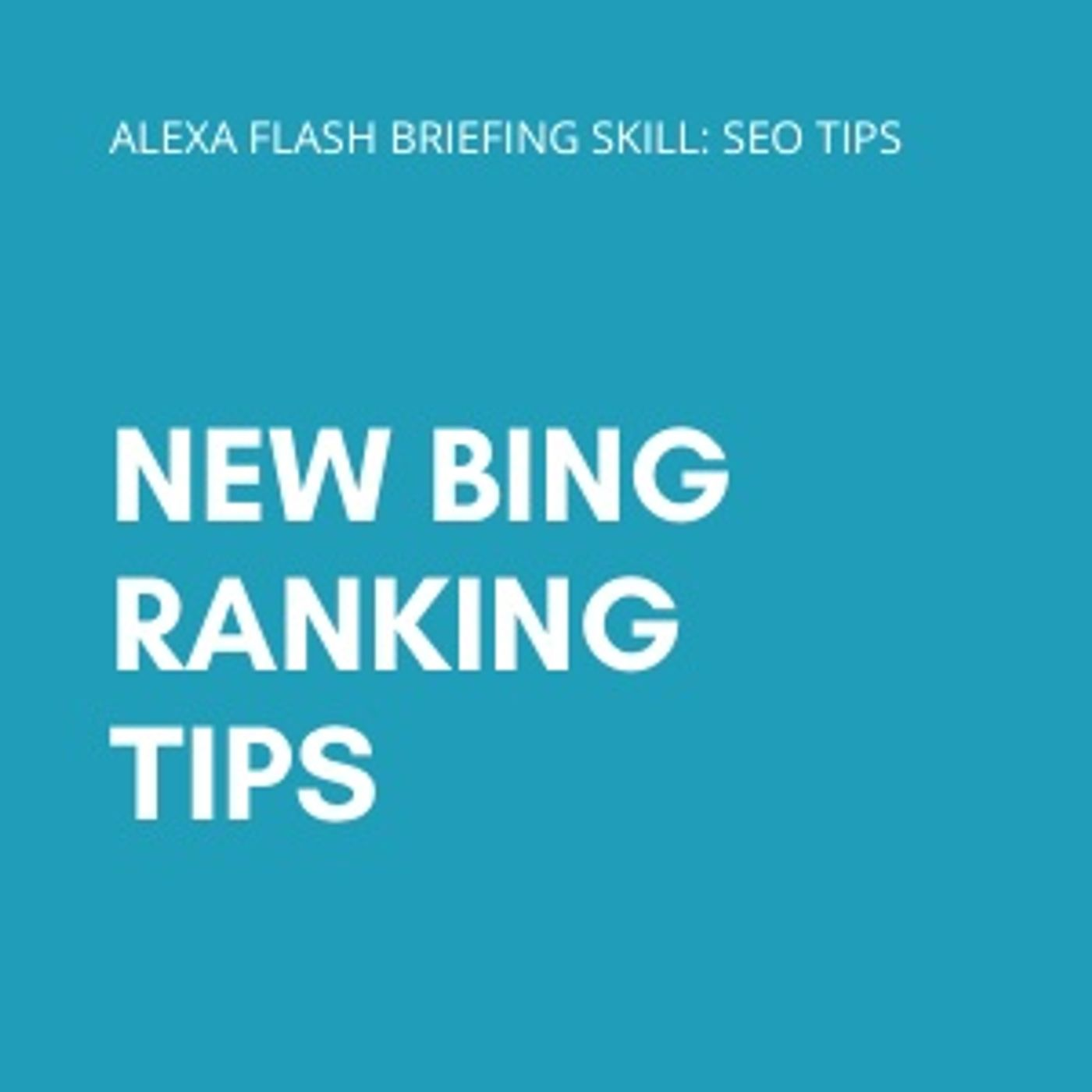 New Bing ranking tips