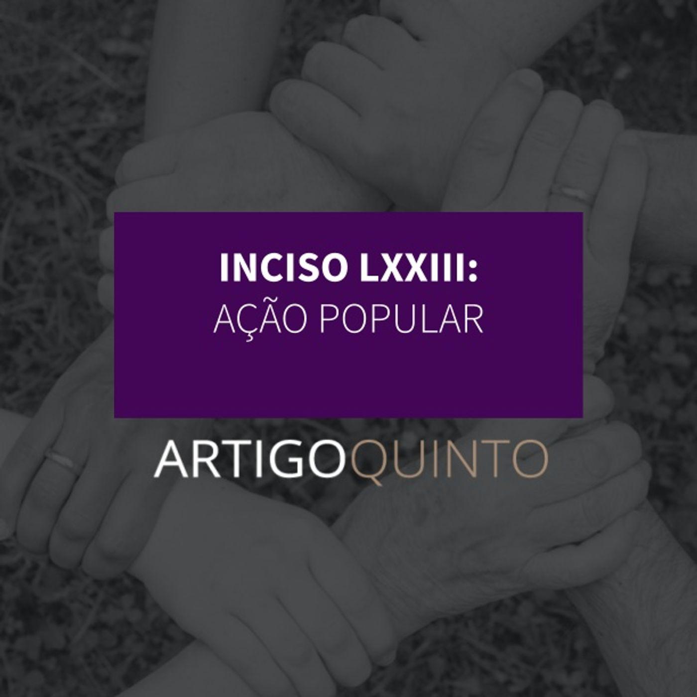 Inciso LXXIII - Ação popular